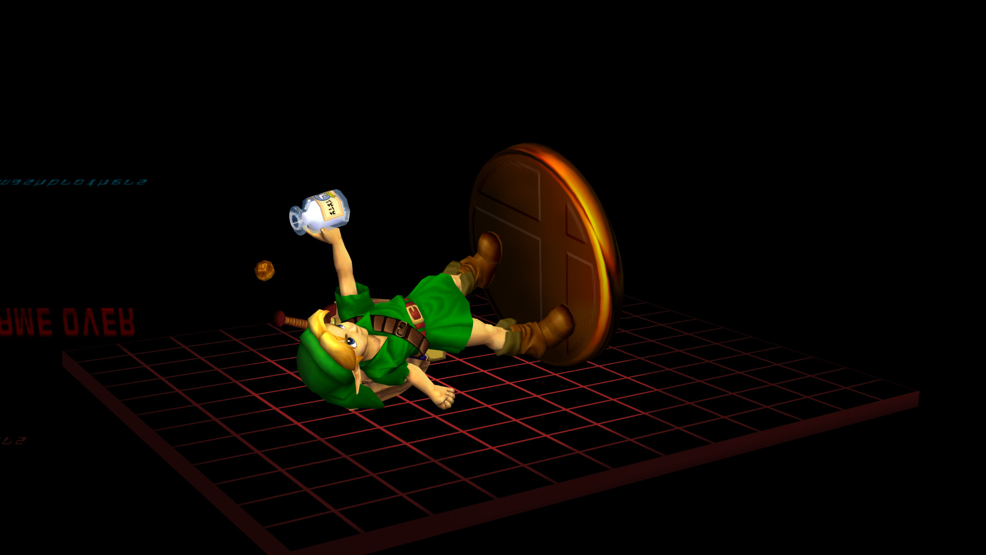 SSBM Adventure Game Over Young Link.png