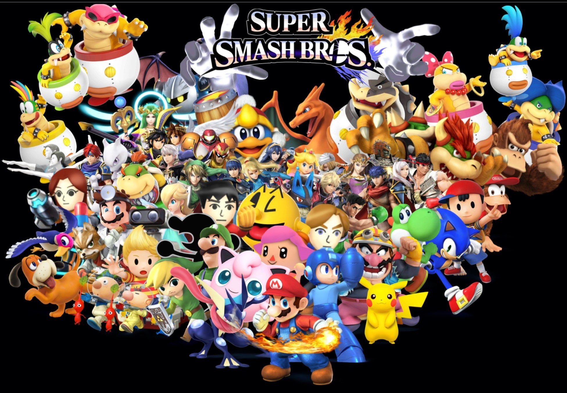 User blog:InklingChris/Smash Bros wallpaper of all character plus DLC and  skin swaps. Also, Smash Bros comic anoncement. | Smashpedia | FANDOM  powered by …