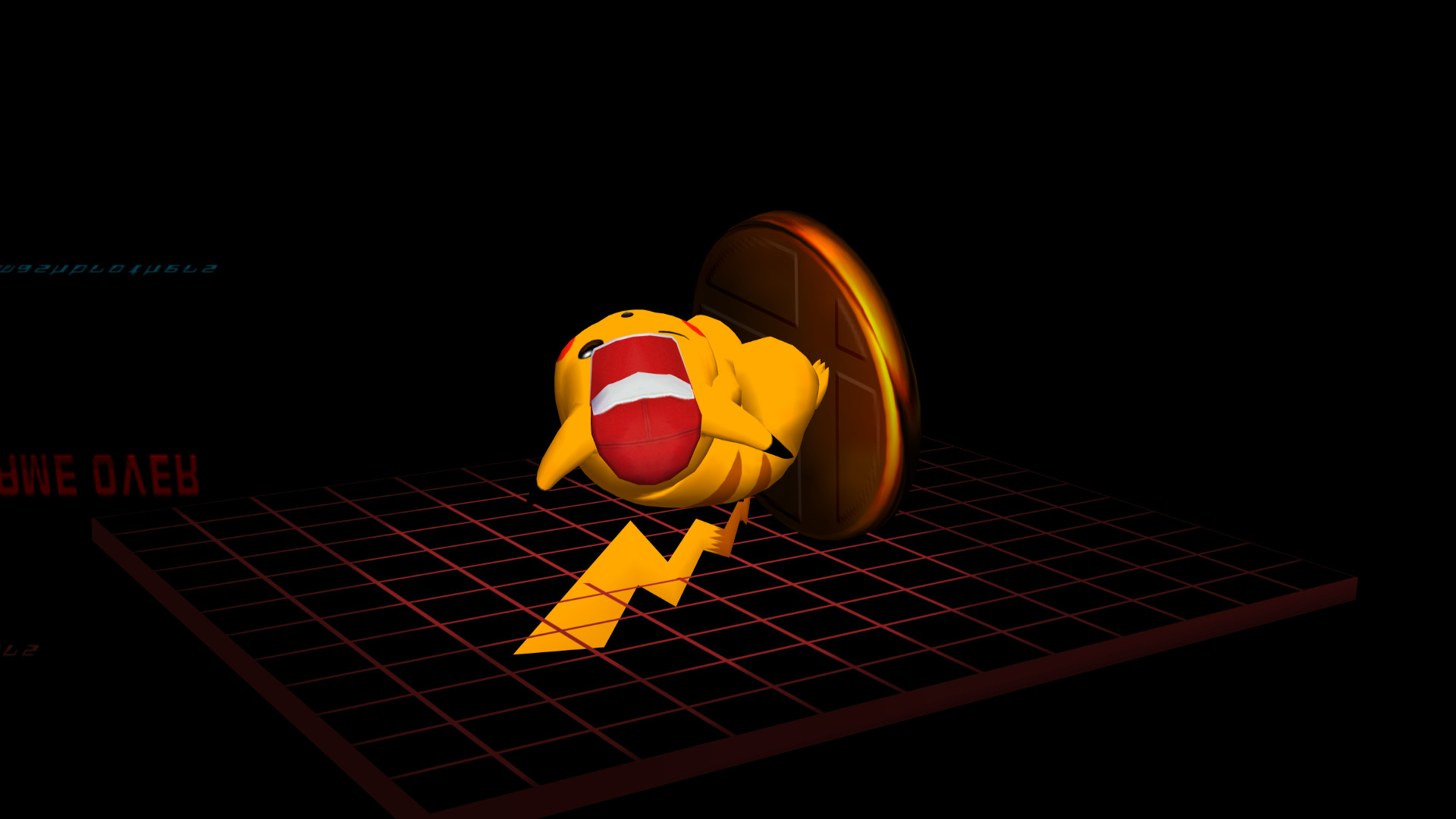 SSBM Game Over All Star Pikachu.png