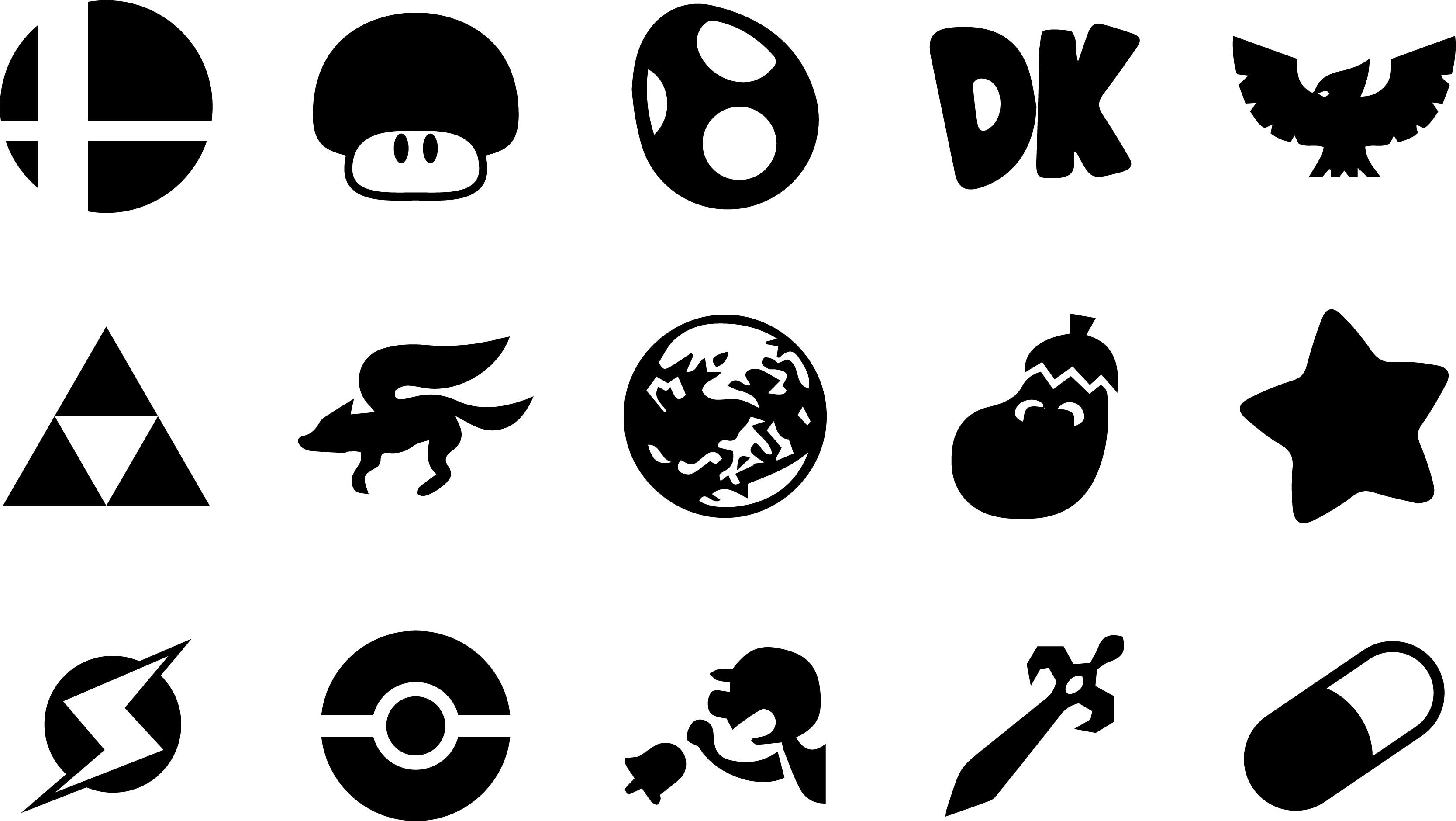 … Super Smash Bros Melee Icons by one-seb