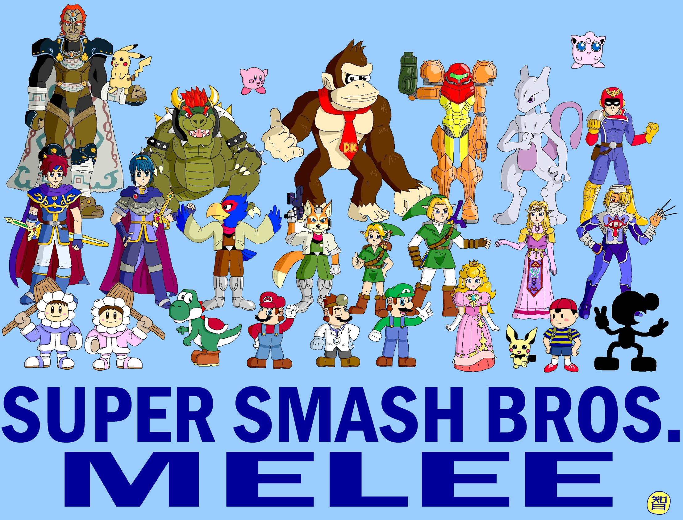 … smash bros melee collage by Kairu-Hakubi
