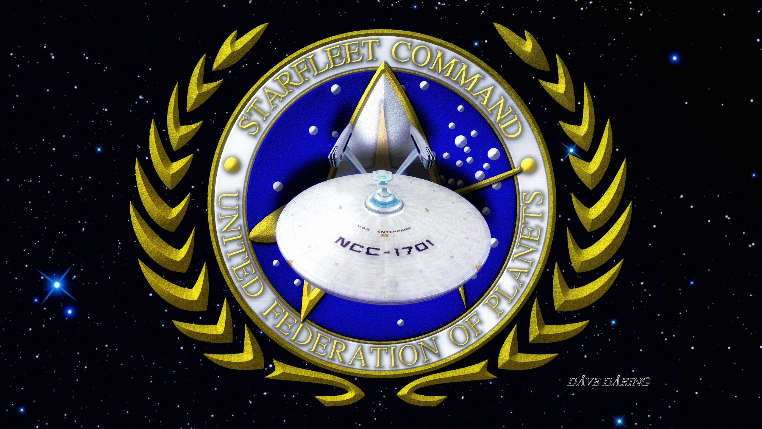 … The ENTERPRISE of Starfleet Command by Dave-Daring