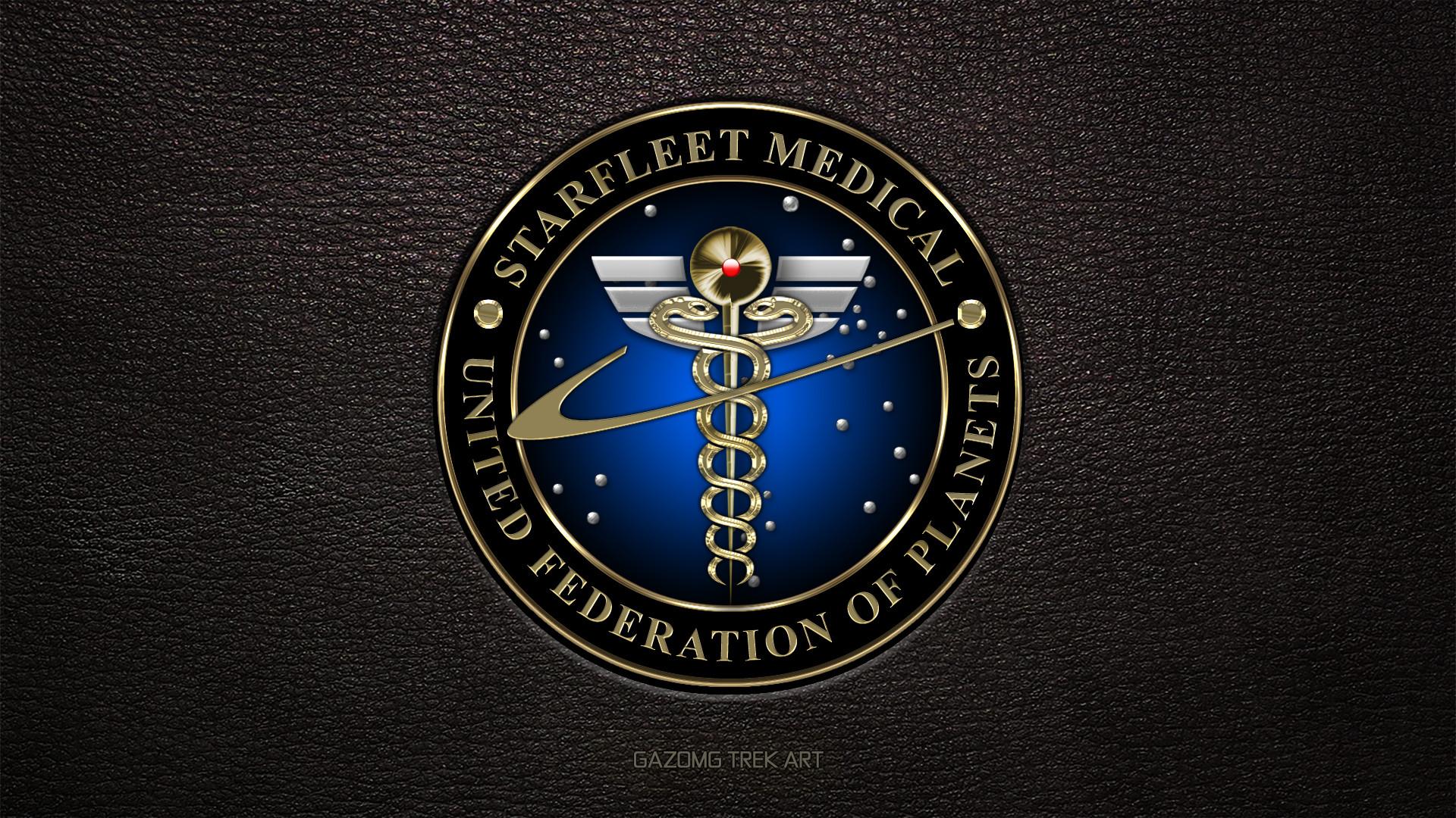 … Starfleet Medical Logo Star Trek (updated) by gazomg