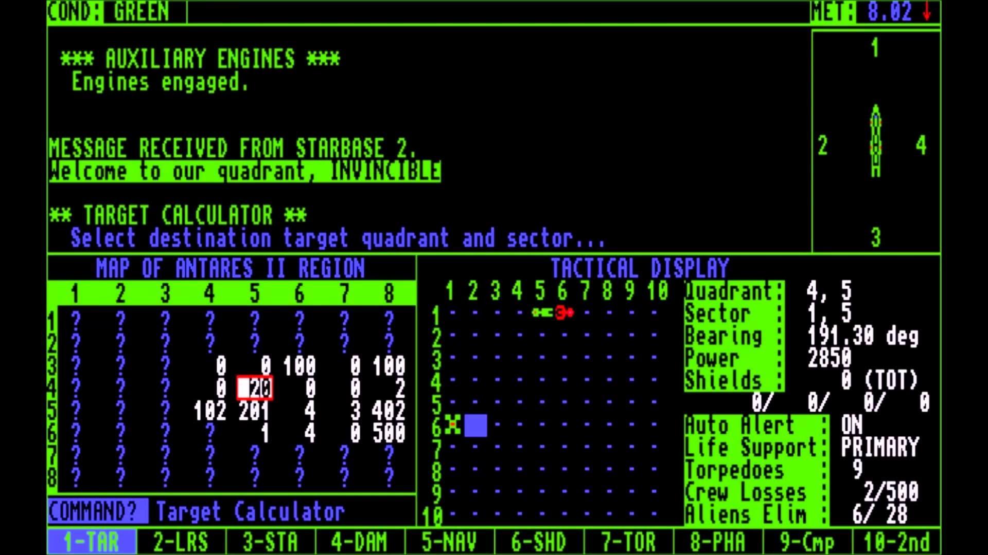 Star Fleet 1: The War Begins – Amiga gameplay