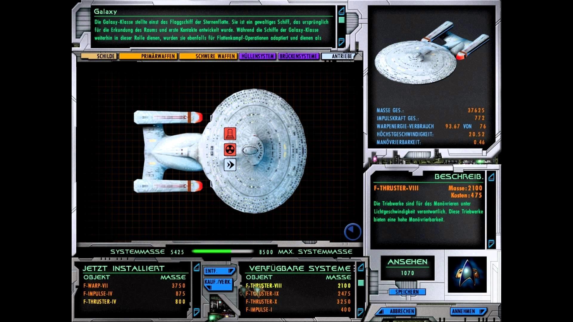 Star Trek: Starfleet Command III Let´s Play Deutsch [FullHD] #53 – Wir  fliegen eine Galaxy