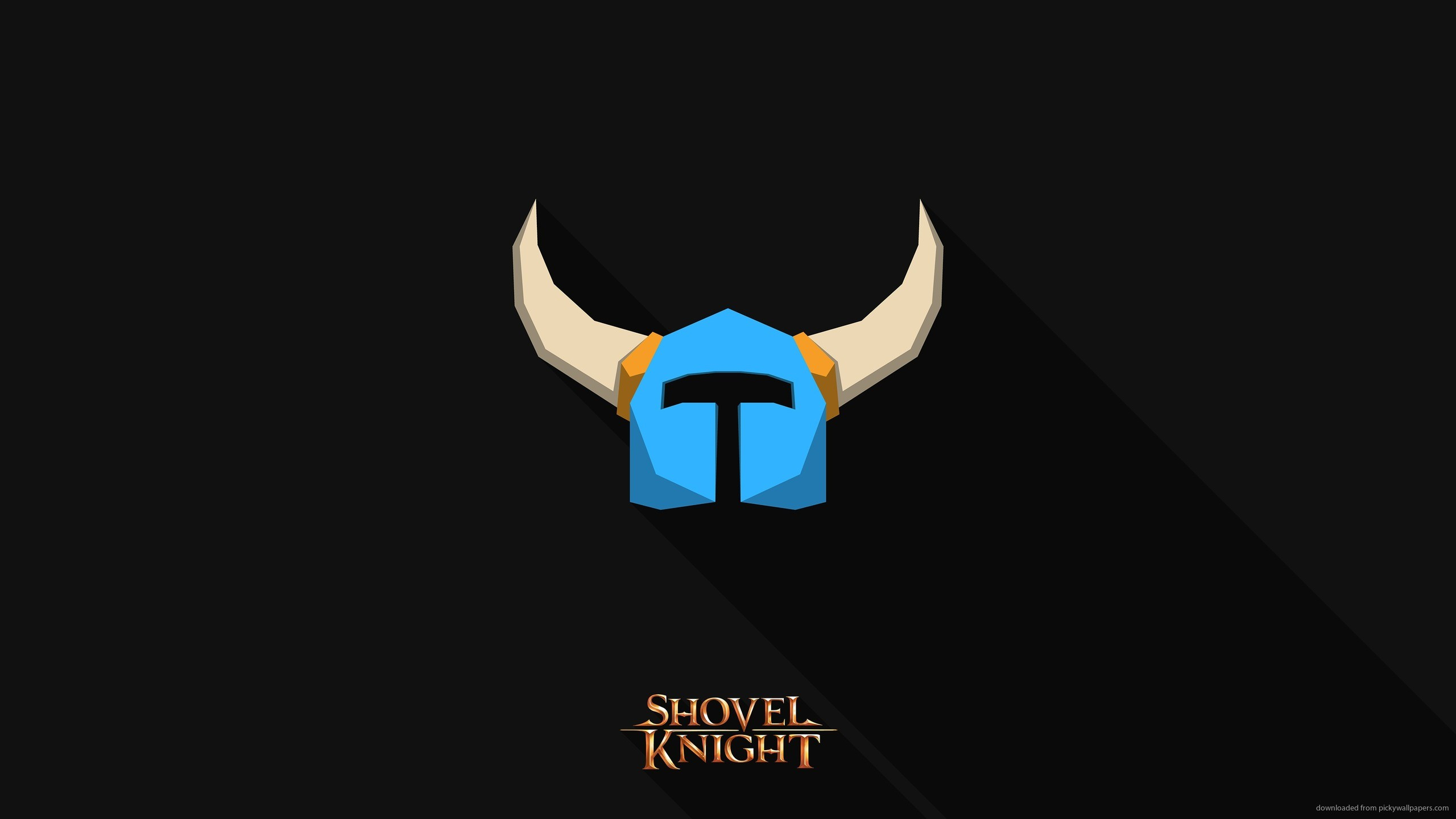 Minimalistic Shovel Knight Wallpaper for 2560×1440