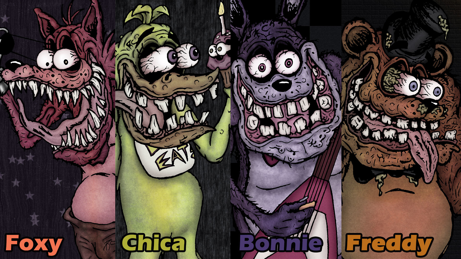 … Five Nights at Freddy – Ed Roth Style (Wallpaper) by SestrenNK