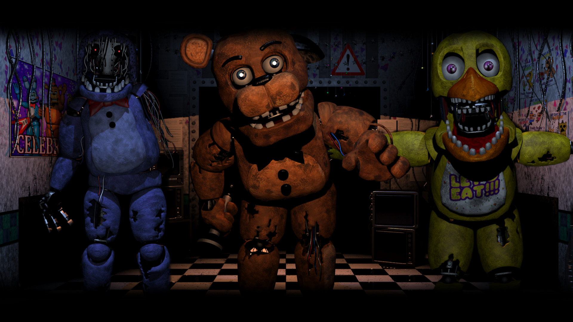 … Old Gang ( Five Nights At Freddy's 2 Wallpaper) by BloodyHorrible