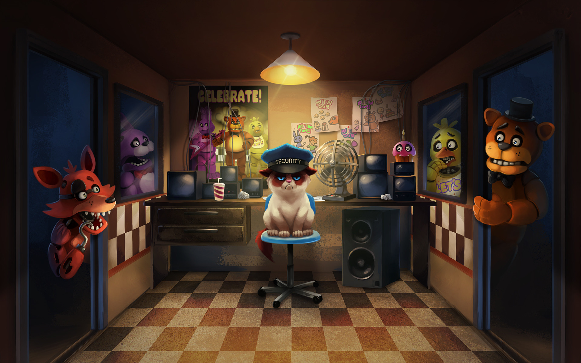 Five Nights At Freddys Game HD Wallpaper