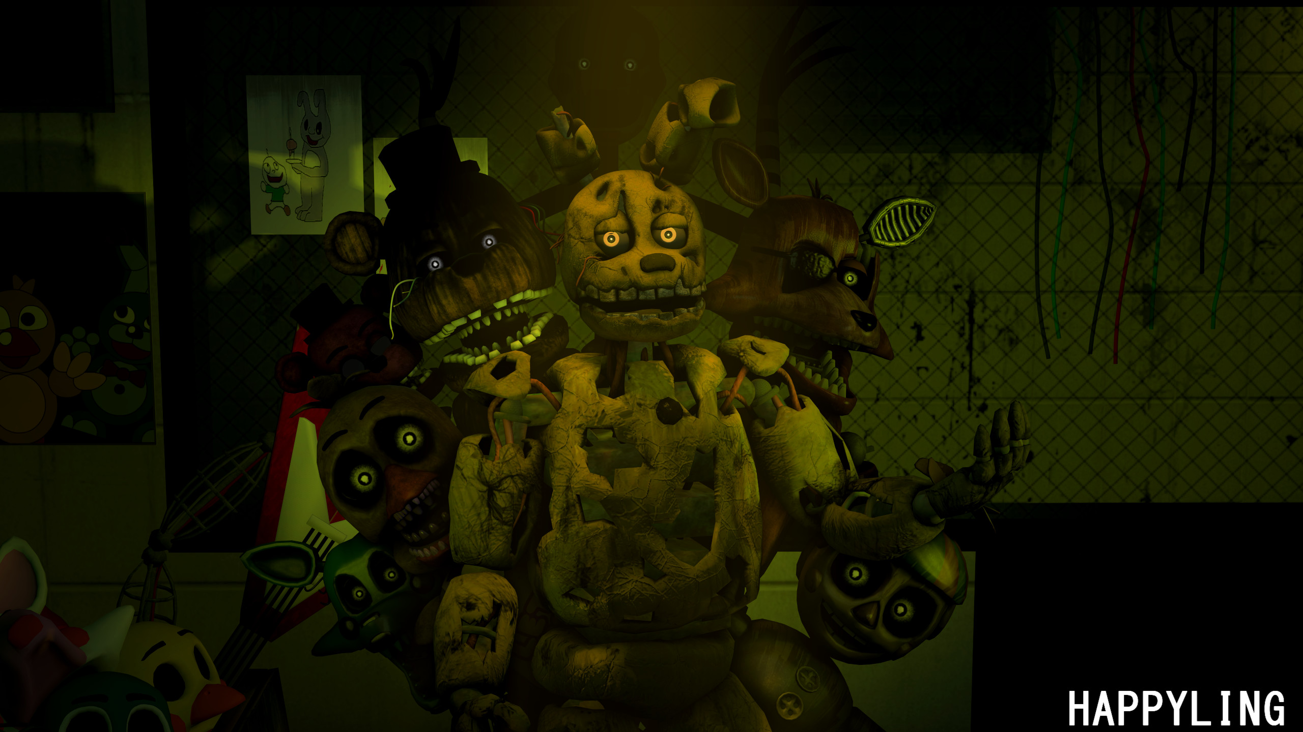 … FNAF] Five nights at Freddy's 3 by Happyling