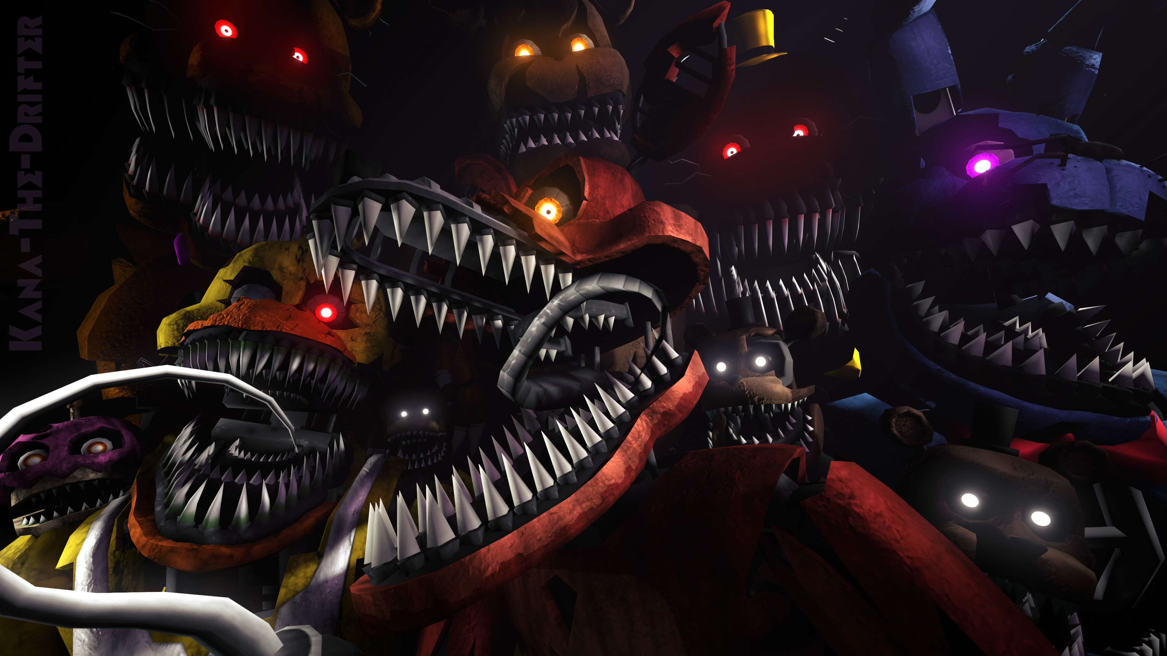 We'll Stay Here Forever (FNAF SFM Wallpaper) by Kana-The-
