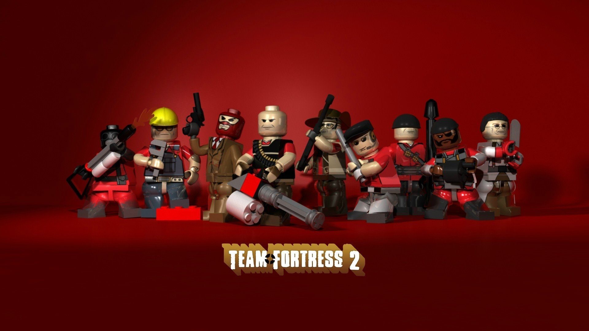 game team fortress 2 legos wallpapers 1920×1080