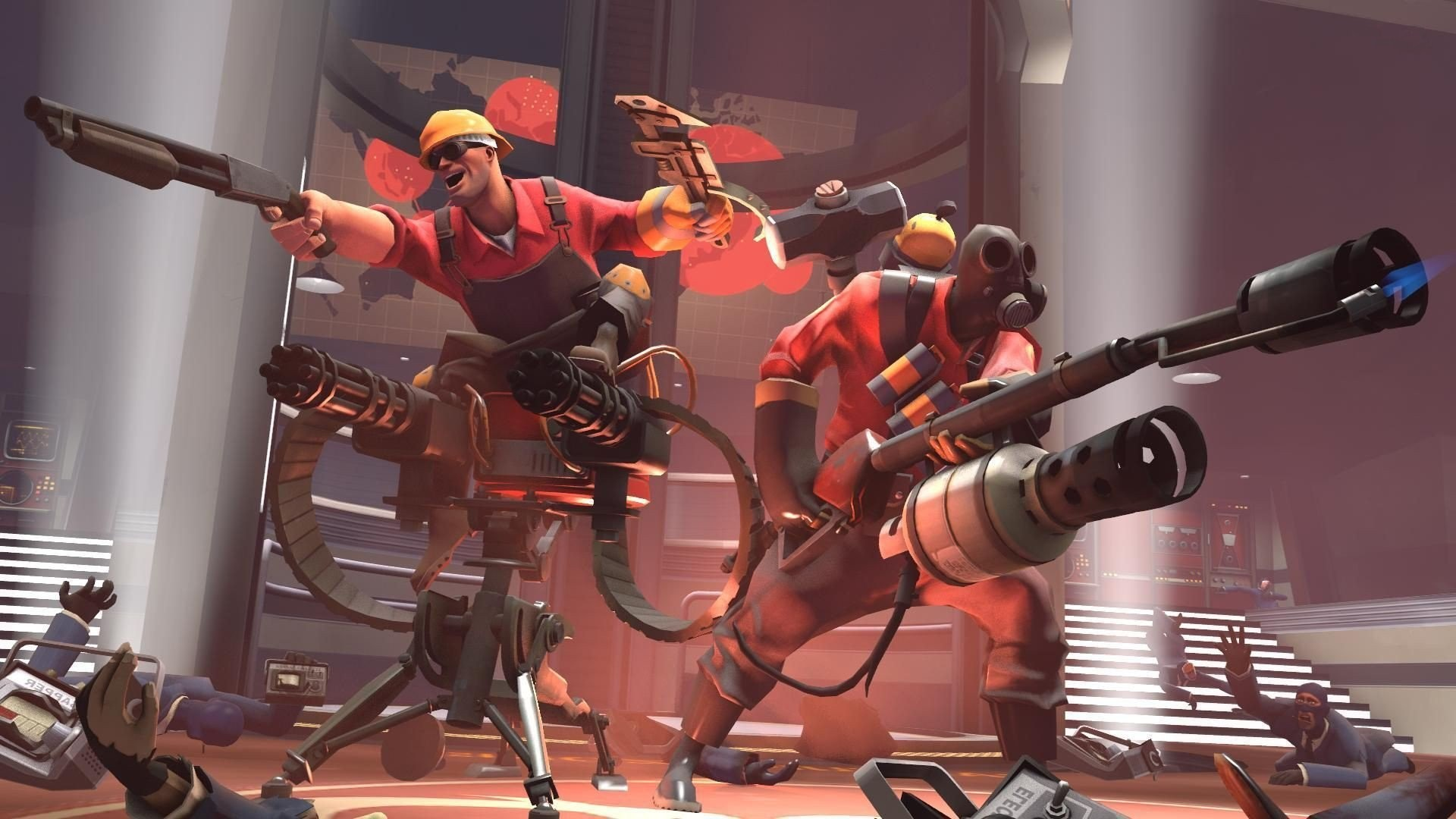 Video Games Artwork Team Fortress 2 Valve Corporation Pyro Engineer