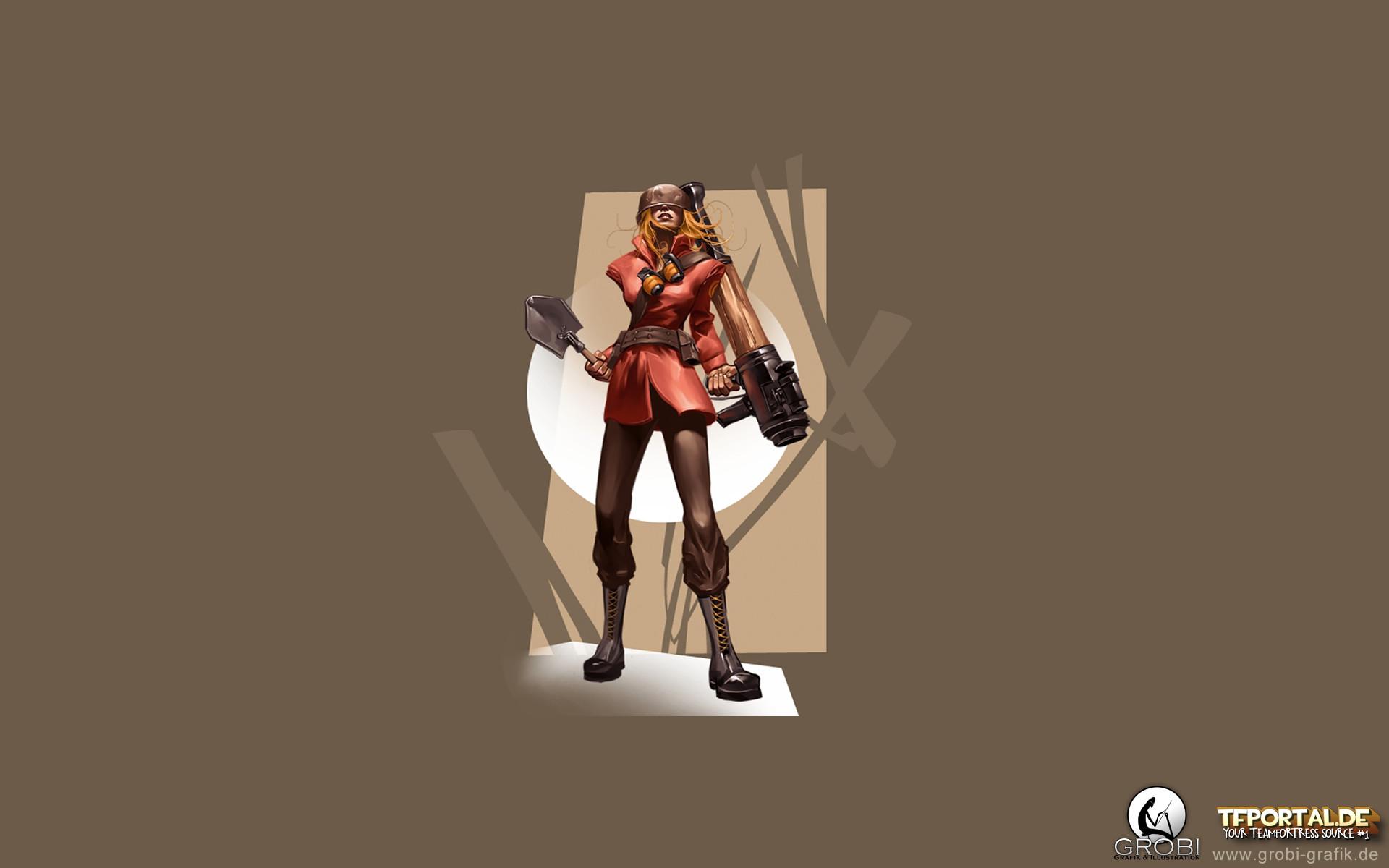 TF2 Girl Soldier Wallpaper. 1920×1080