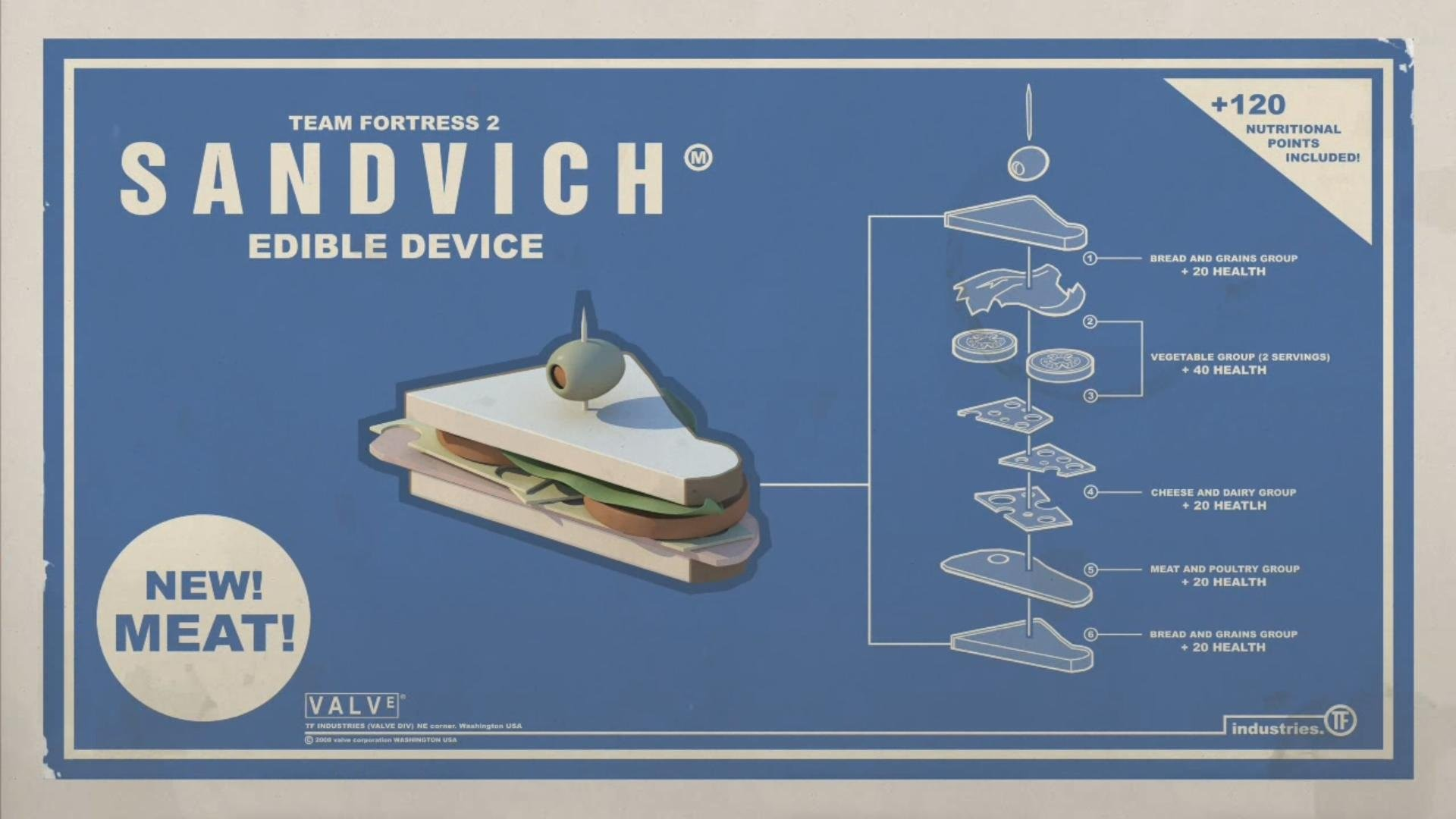 … wallpapers hd; funny heavy sandvich sandwiches team fortress 2  walldevil …