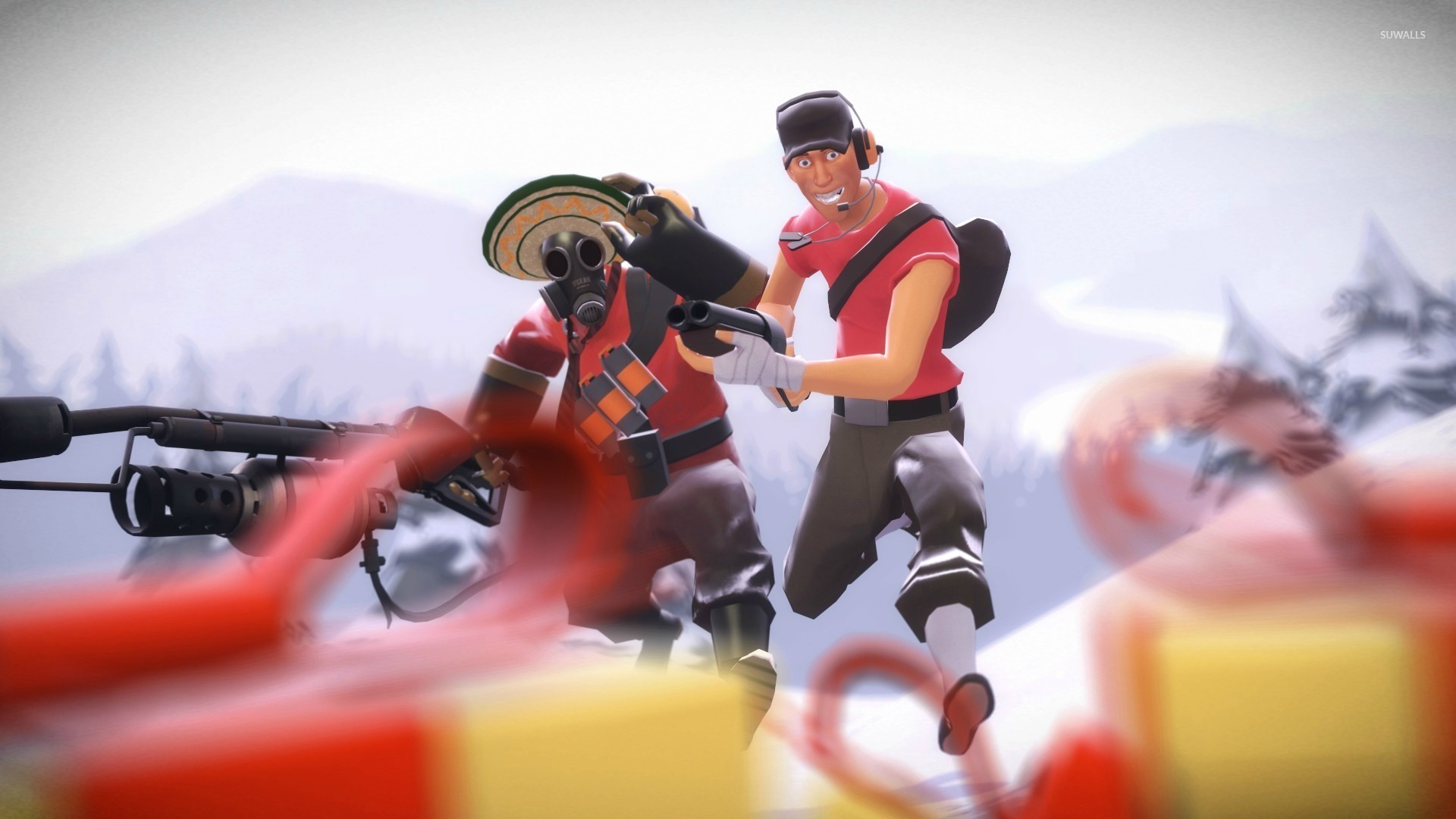 Pyro and Scout – Team Fortress 2 wallpaper