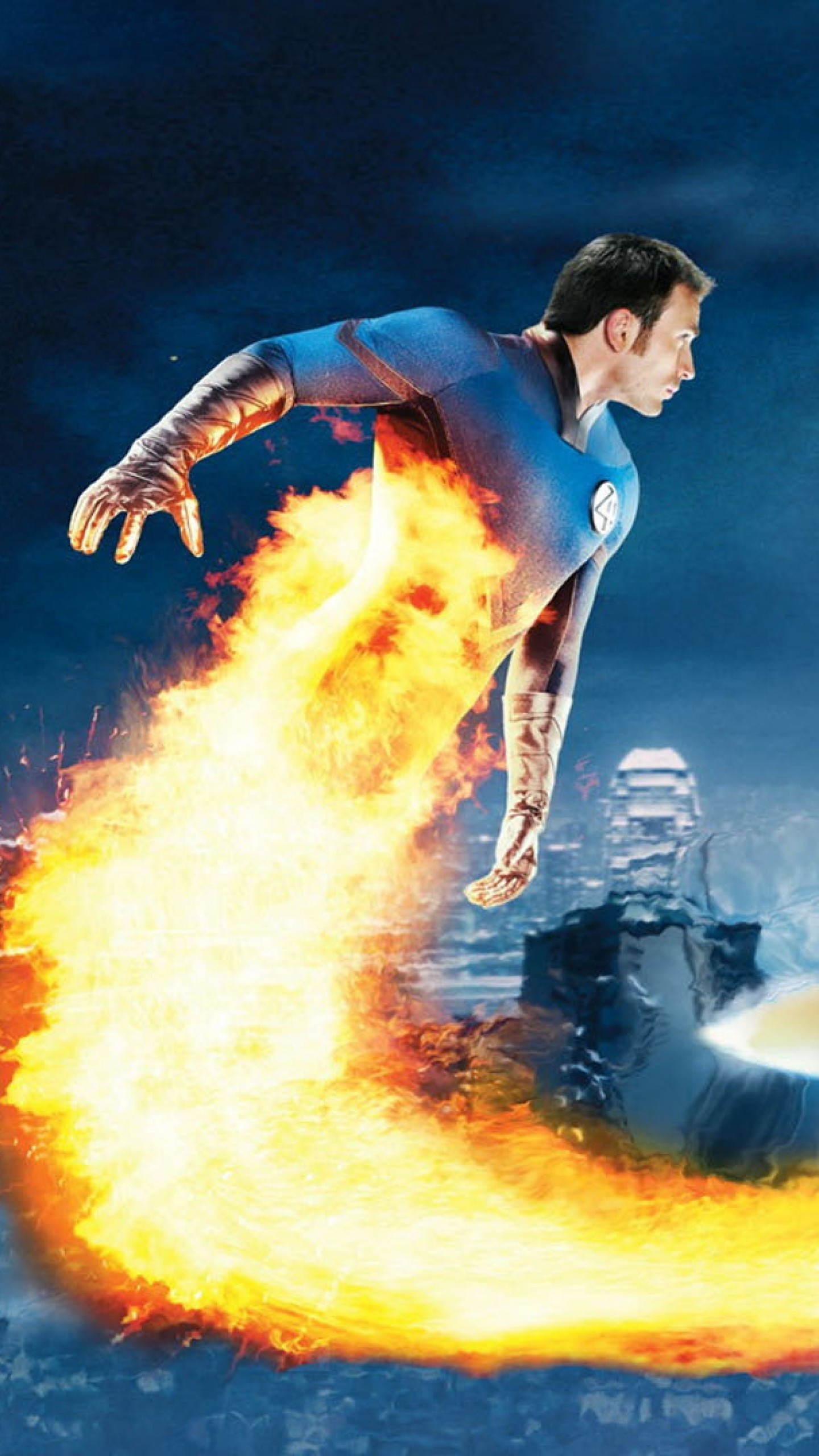 Wallpaper fantastic 4, rise of the silver surfer, chris evans,  human torch