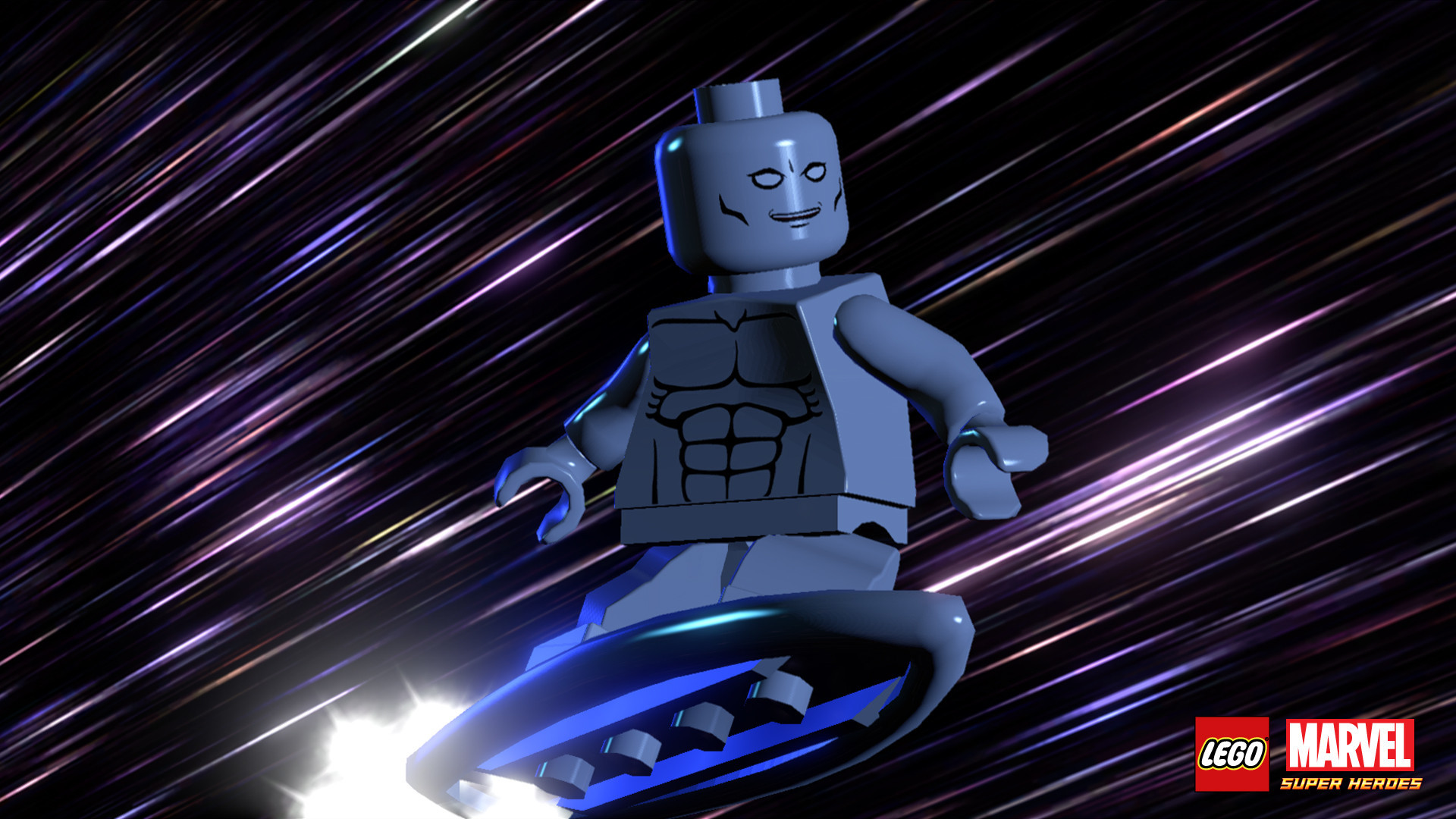 The Silver Surfer as he appears in Lego Marvel Superheroes