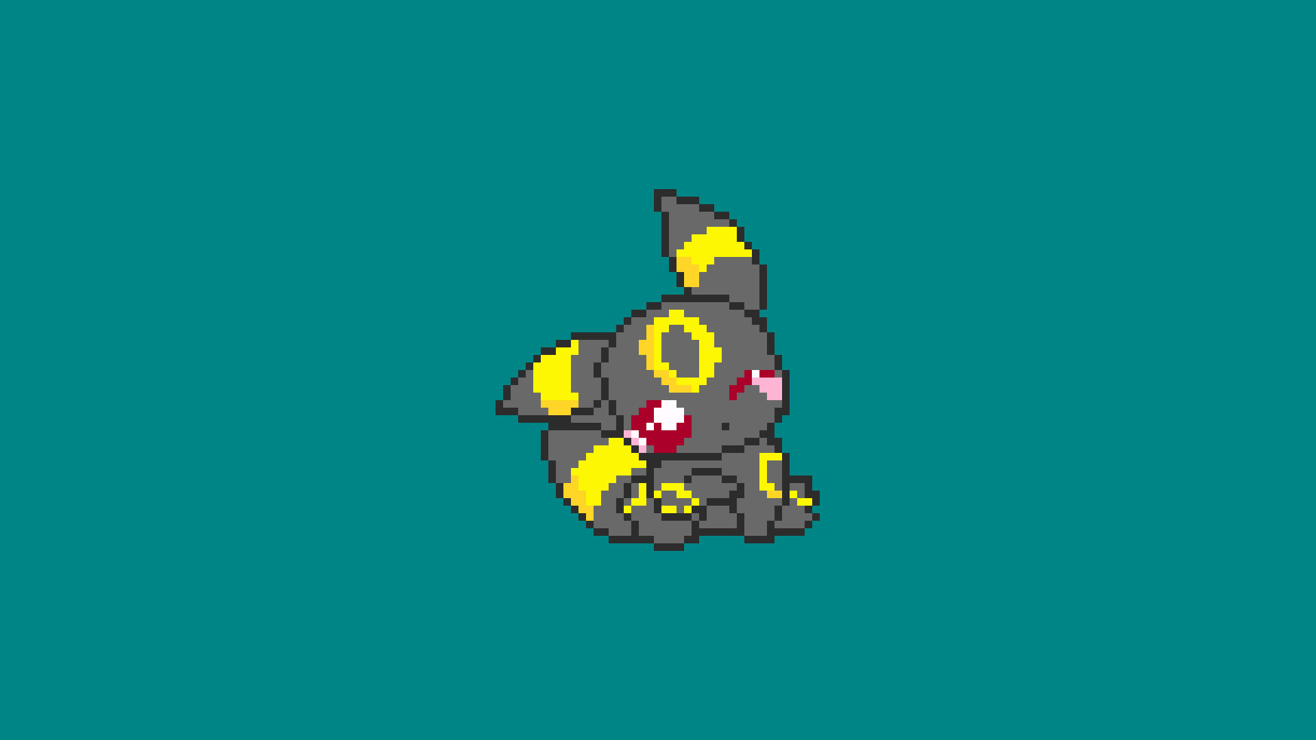 Pokémon, Umbreon, Pixel art, Pixels Wallpaper HD