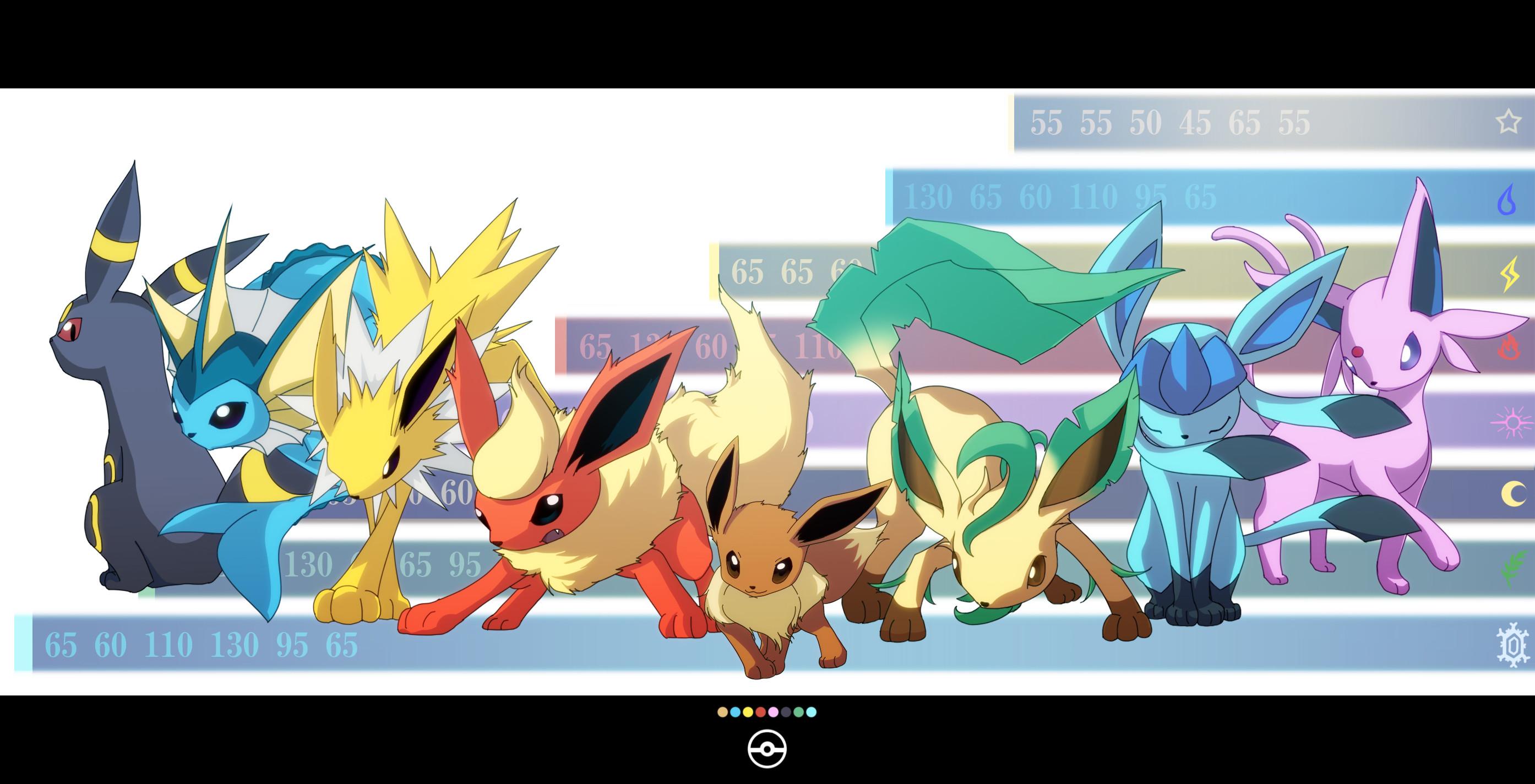 Pokemon eevee espeon flareon glaceon jolteon leafeon tagme umbreon vaporeon  wallpaper | | 89105 | WallpaperUP