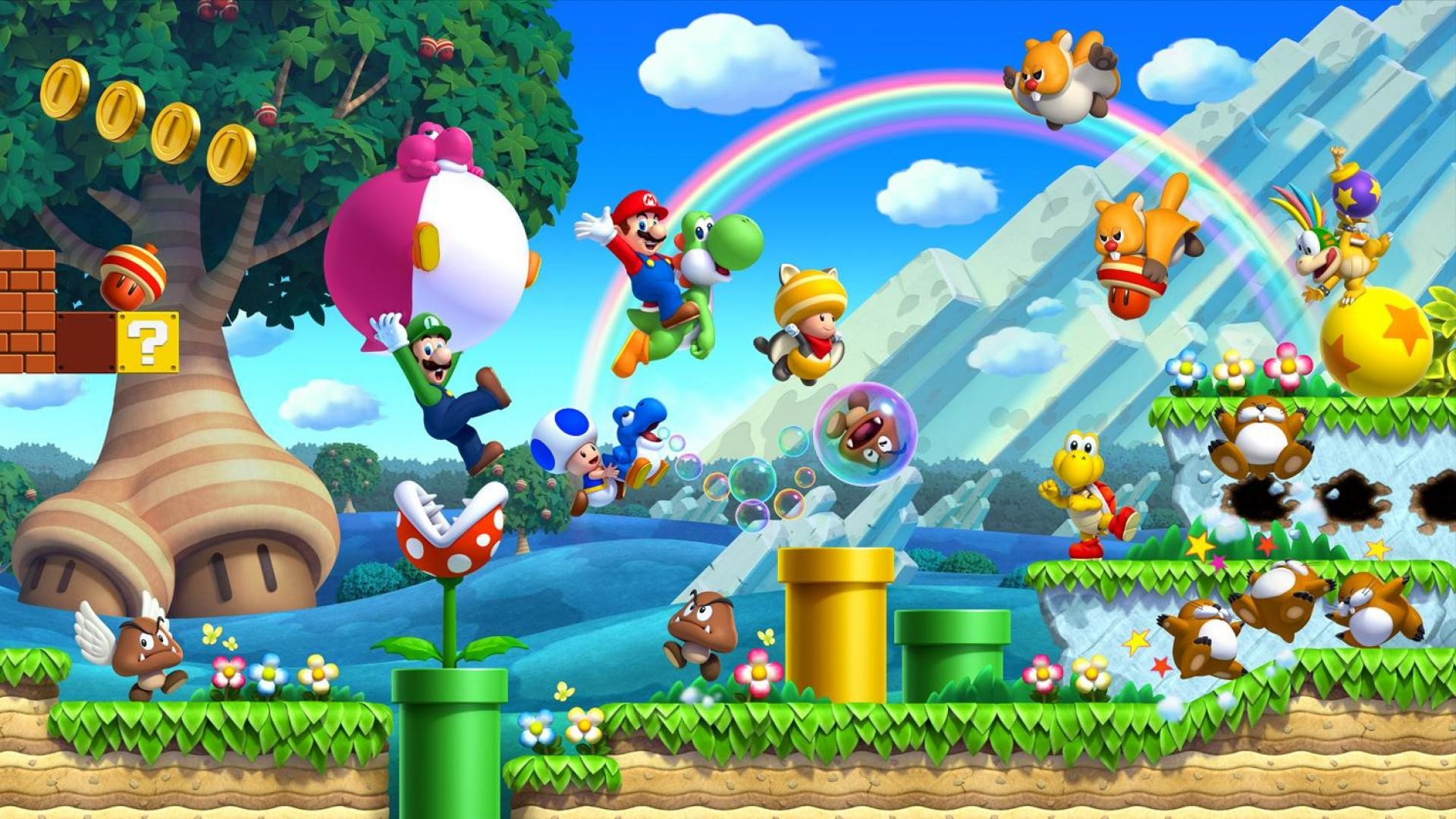 Super Mario Bros themed Wallpaper for your PC, tablet or mobile phone