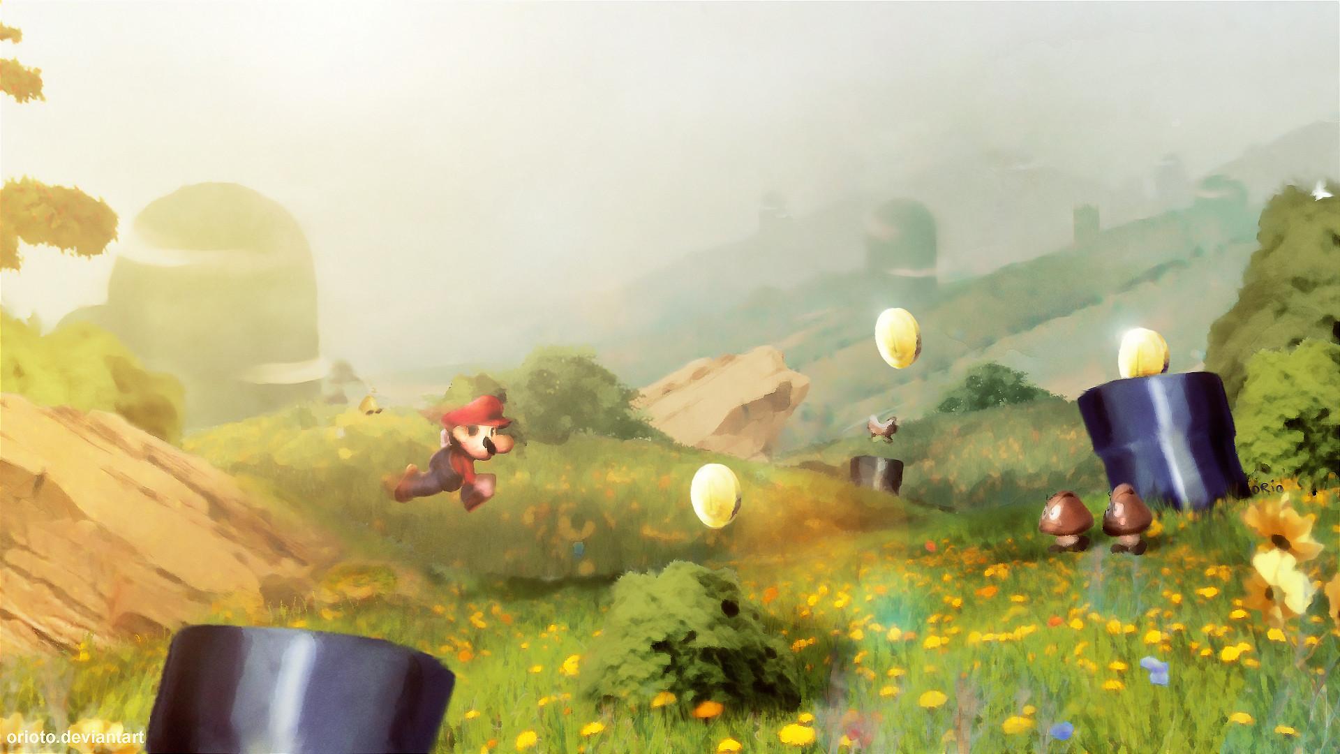 paintings video games Mario – Wallpaper (#125399) / Wallbase.cc