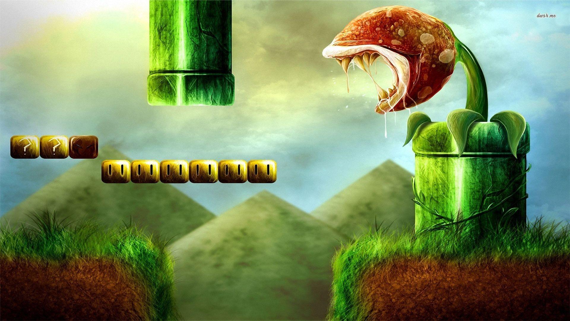 Super Mario – Piranha Plant wallpaper – Game wallpapers – #6562