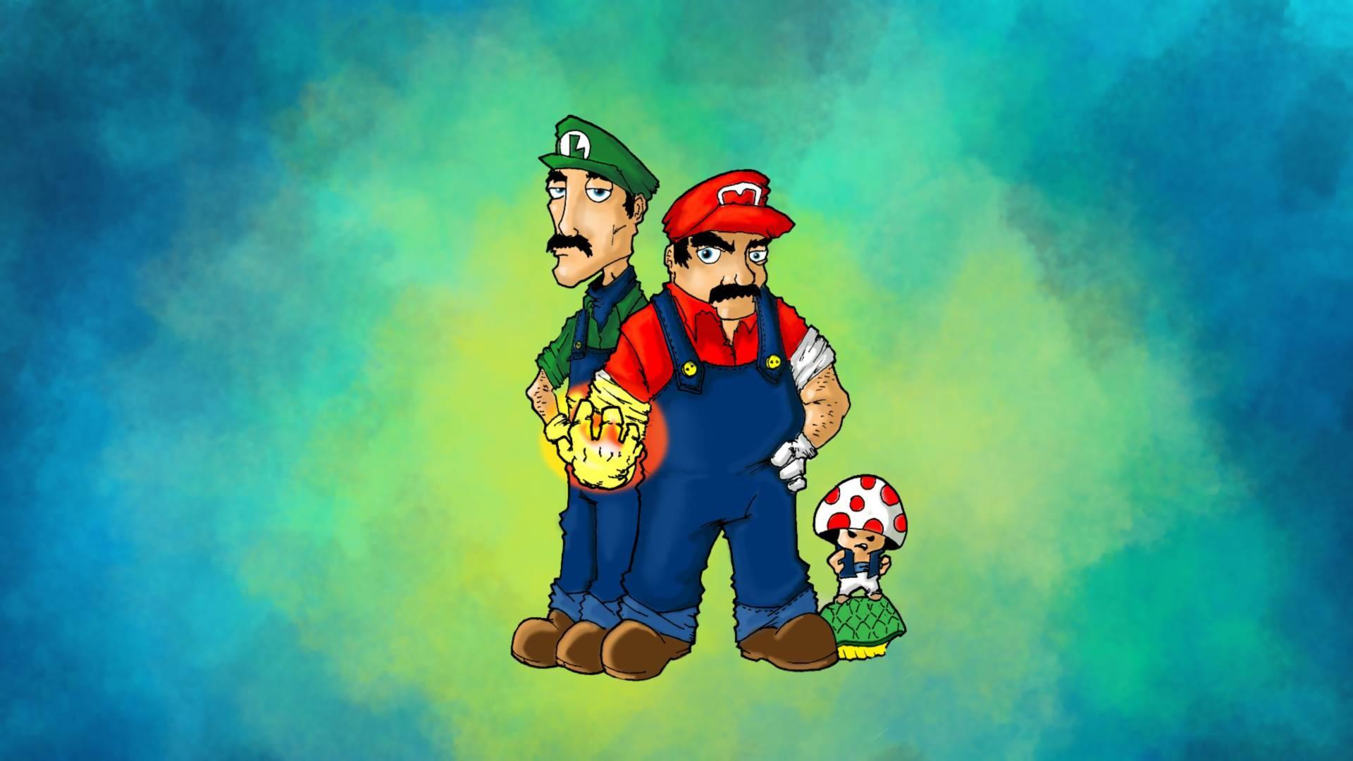 Luigi and Mario – Super Mario Wallpaper