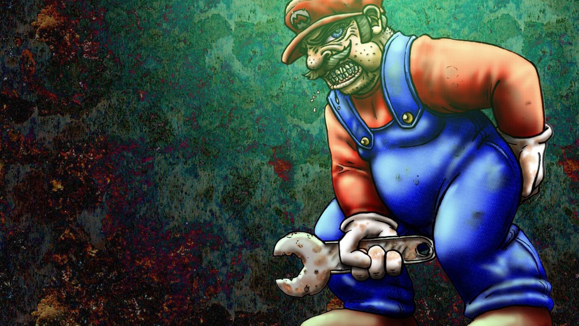 games mario super bros alt art wrench HD Wallpaper wallpaper .