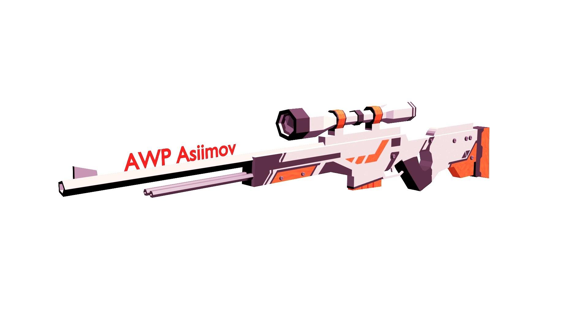 |Blender| Low Poly: AWP Asiimov [SPEEDART]