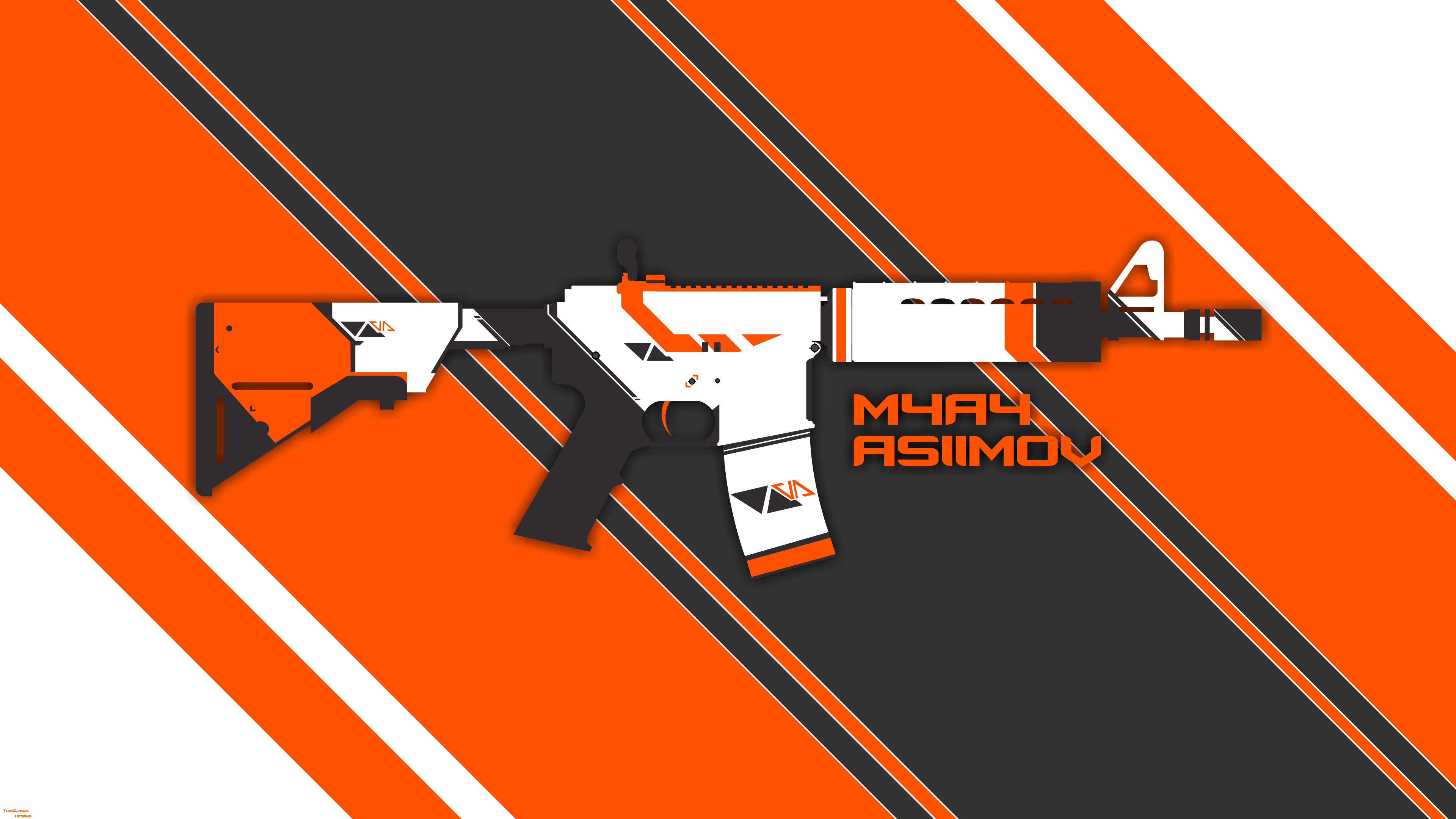 My Asiimov wallpapers that I've made from scratch!