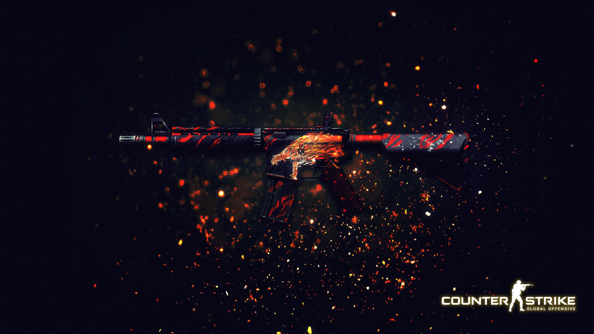 … CS:GO – M4A4 Howl Wallpaper | by MrSchlendermann