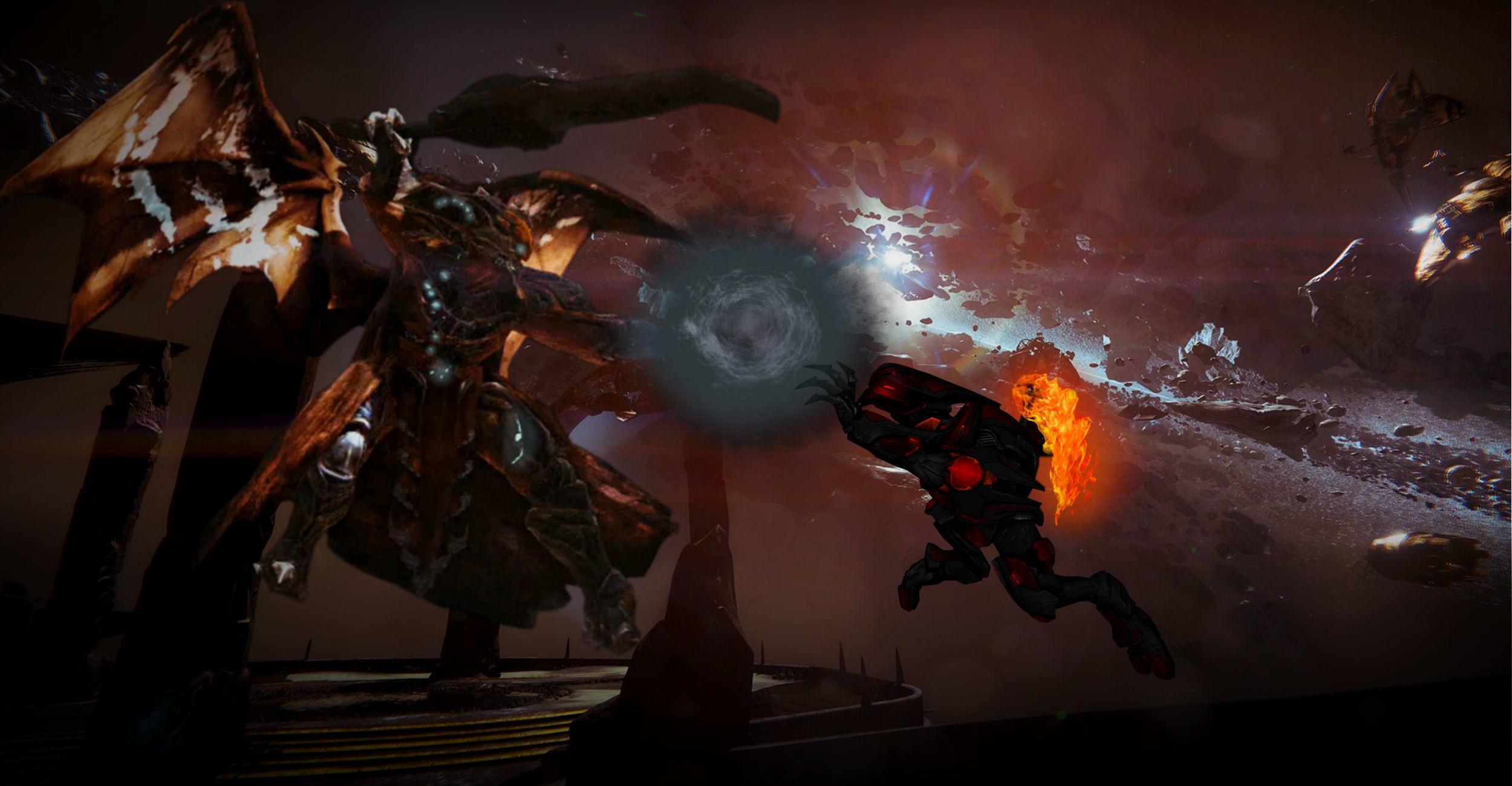 … CommanderNova702 The Flame-Lotus against the Taken King. by  CommanderNova702