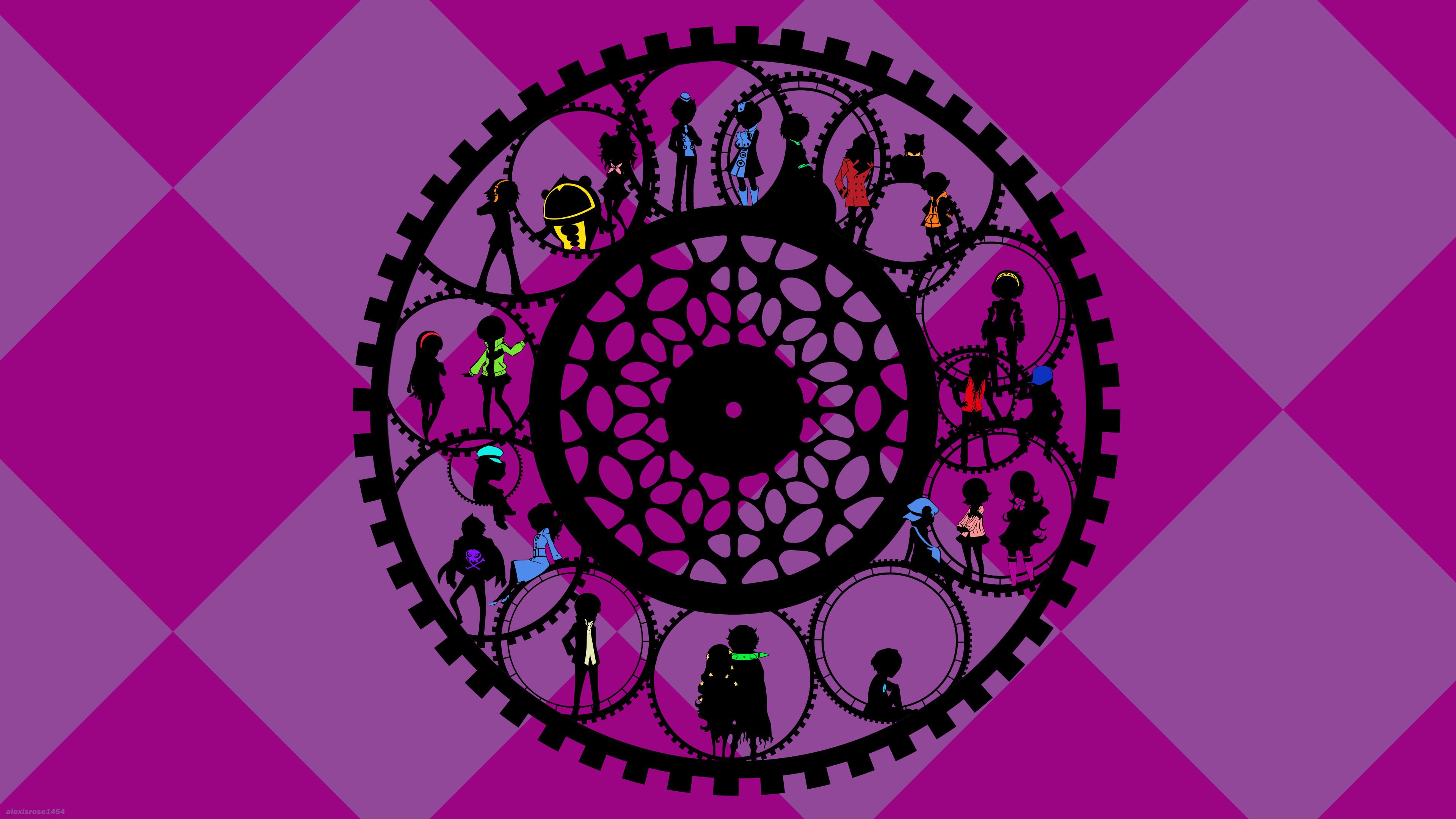 … Persona Q Wallpaper: Purple Gear by alexisrose1454