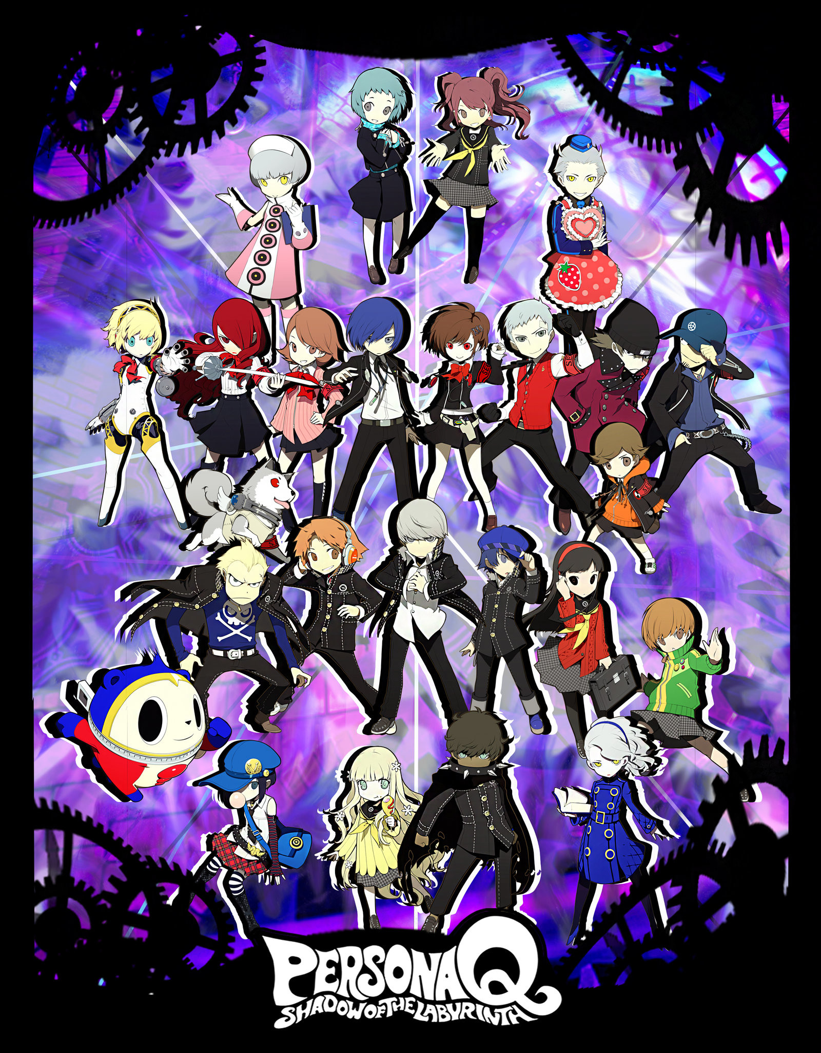 … xMakeDamnSurex Persona Q All P3 and P4 teams Poster by xMakeDamnSurex