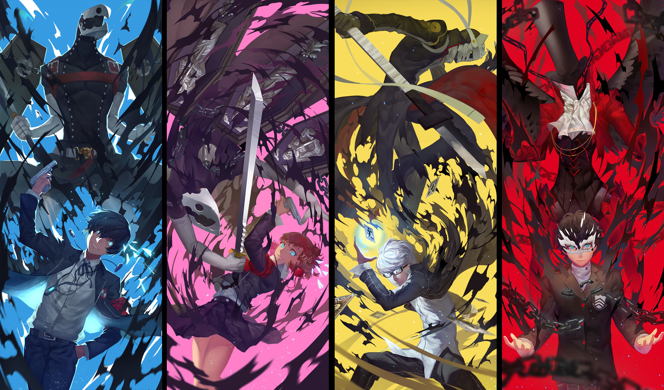 filter:Yuuki Makoto (PERSONA 3), Wallpaper