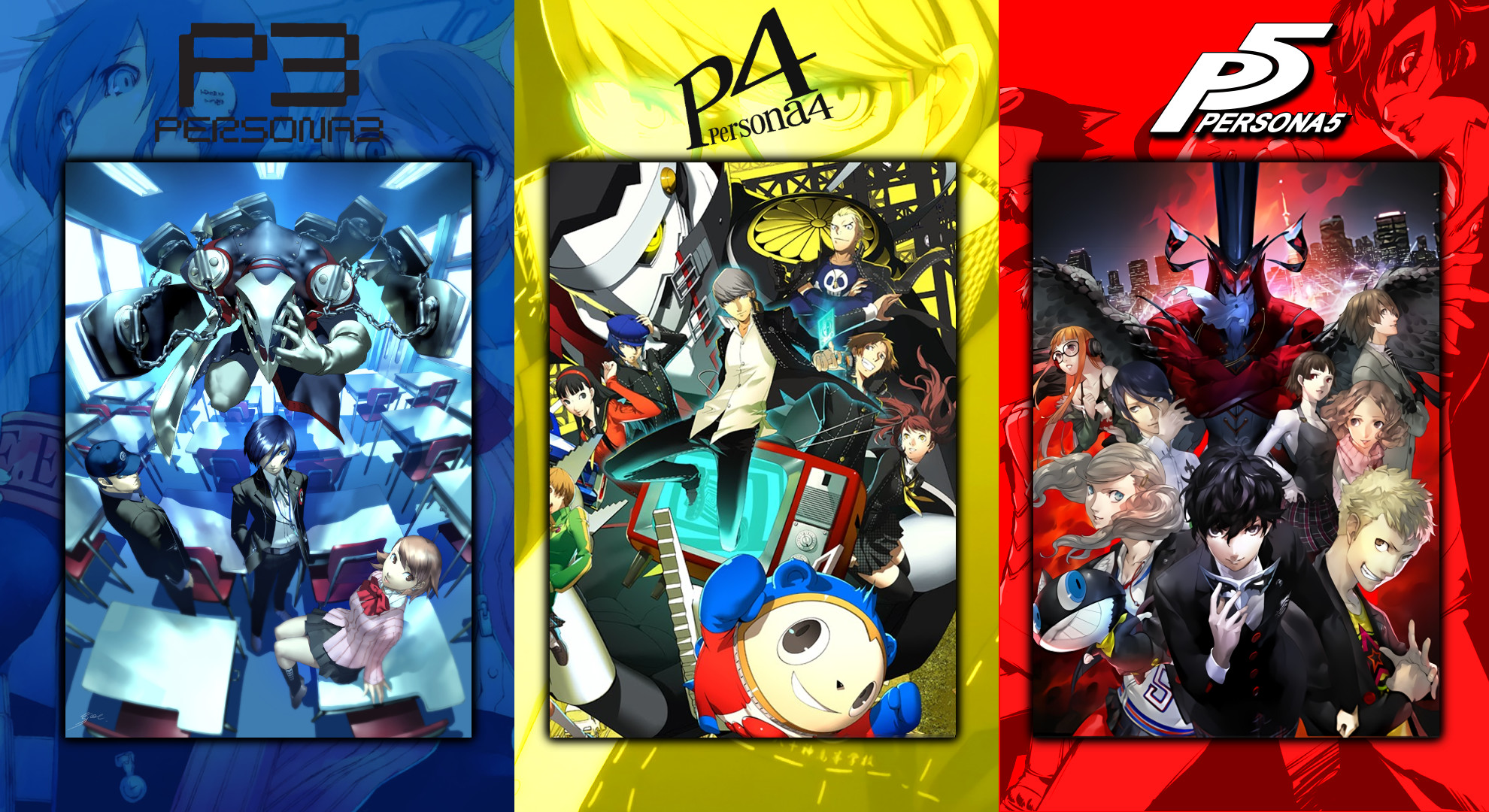 I made a Persona wallpaper for you guys. only, unfortunately  *betcha Persona 6 is going to be green =P …