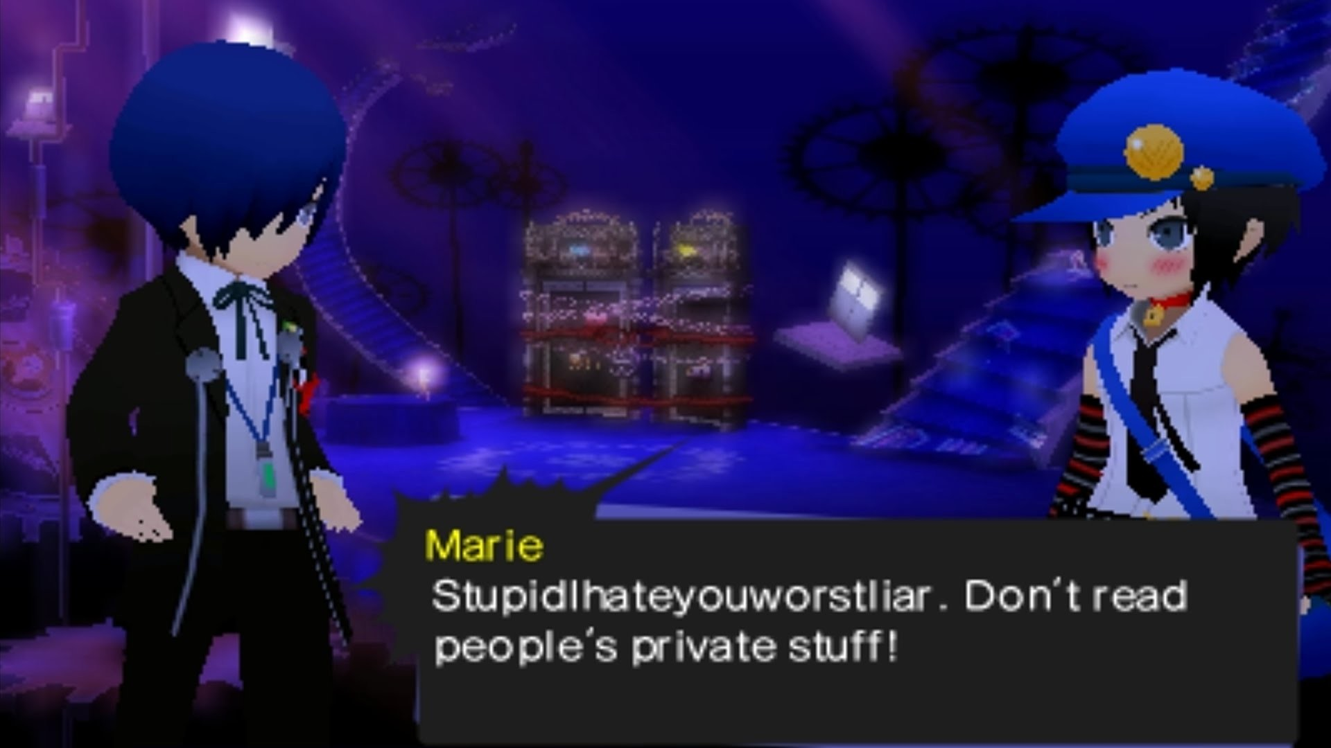 [3DS] Persona Q: Shadow of the Labyrinth [Persona 3] – Marie's Poem 1 –  YouTube