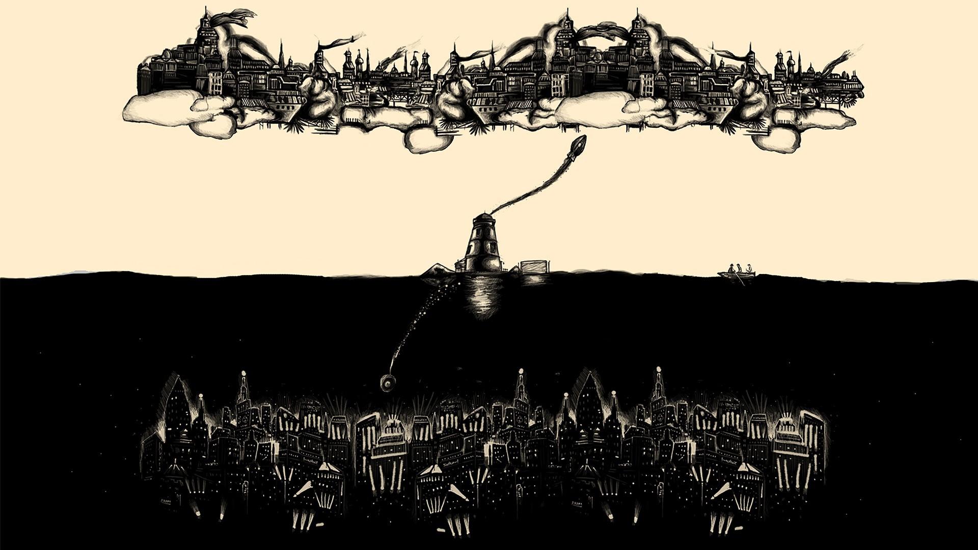 video games, BioShock, Rapture, artwork, fan art, cities .