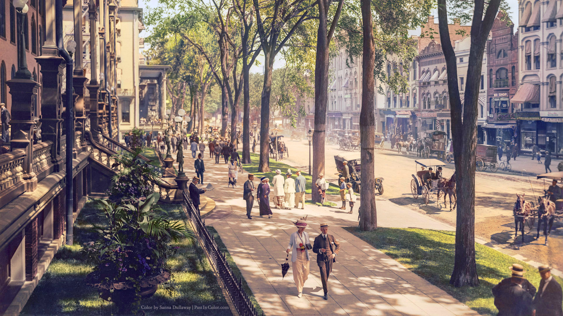 This colorized photo from 1915 looks like Columbia from Bioshock Infinite.