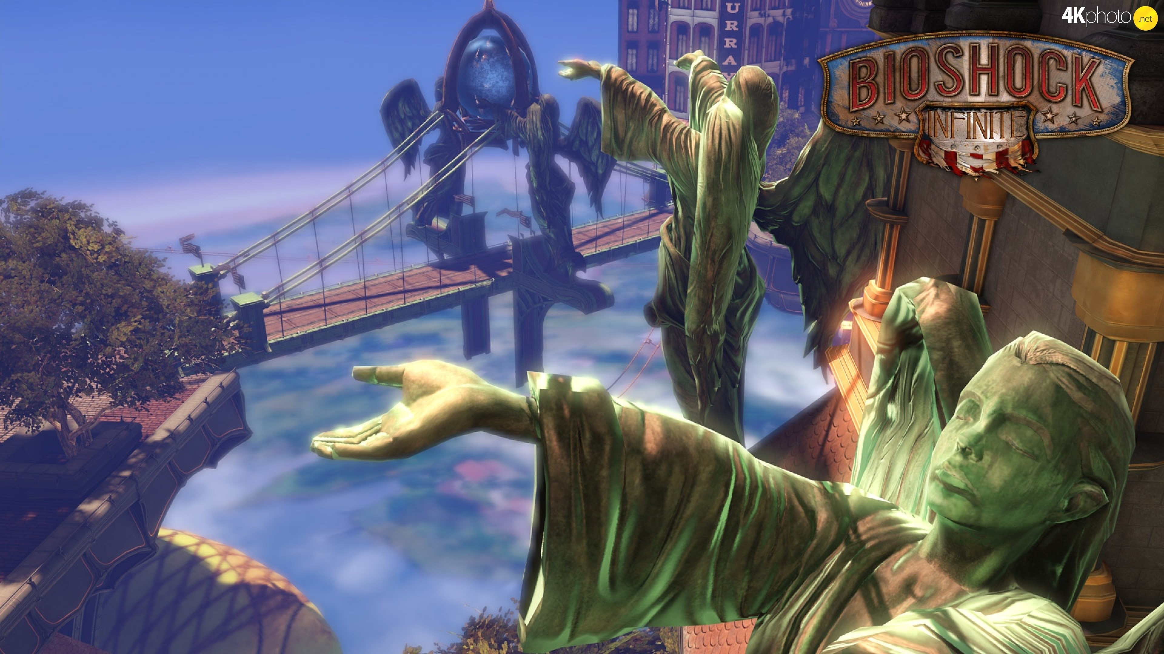 Columbia, Angels, Bioshock Infinite, statues