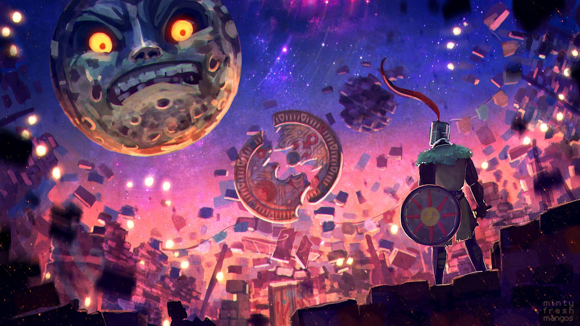 Video Game – Crossover The Legend Of Zelda: Majora's Mask Dark Souls  Solaire of Astora