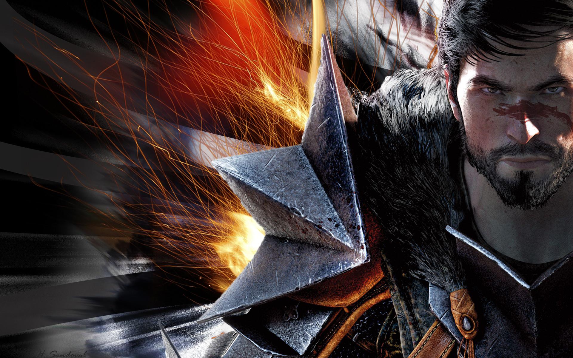 Video Game – Dragon Age II Dark Mage Blood Wallpaper
