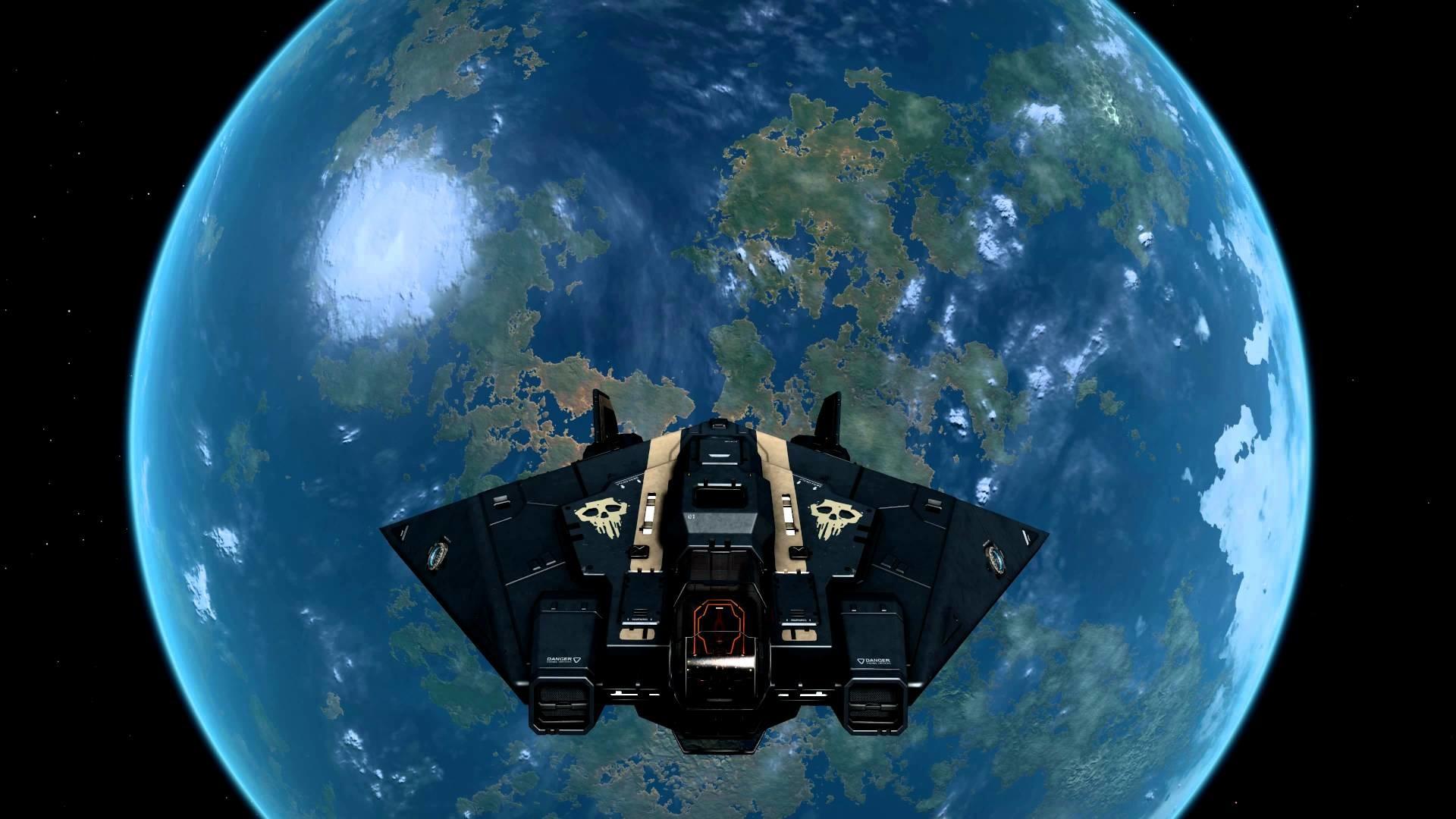 Elite Dangerous leaving PMC home world 03-28-15, in 4k