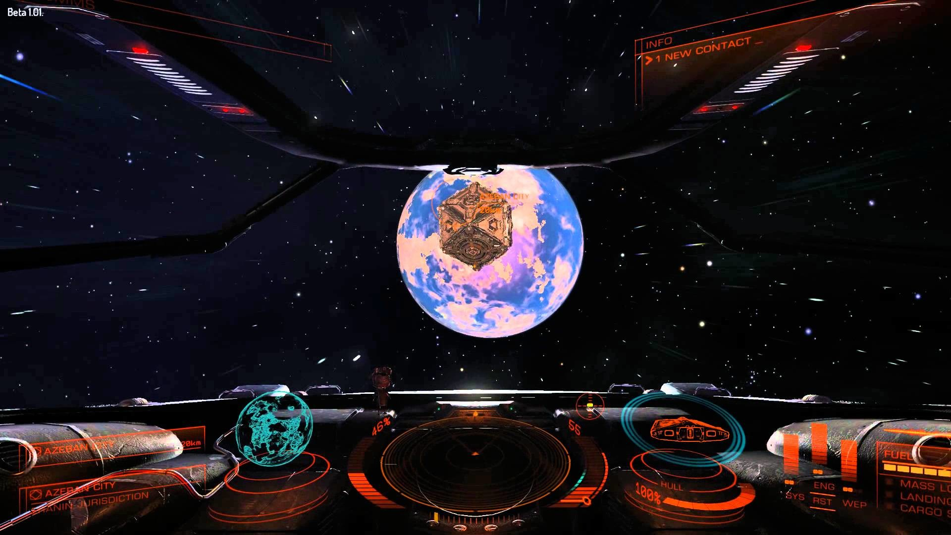 Elite: Dangerous Beta 1.01 – Trading Run And Docking Gameplay (PC) 1080P HD