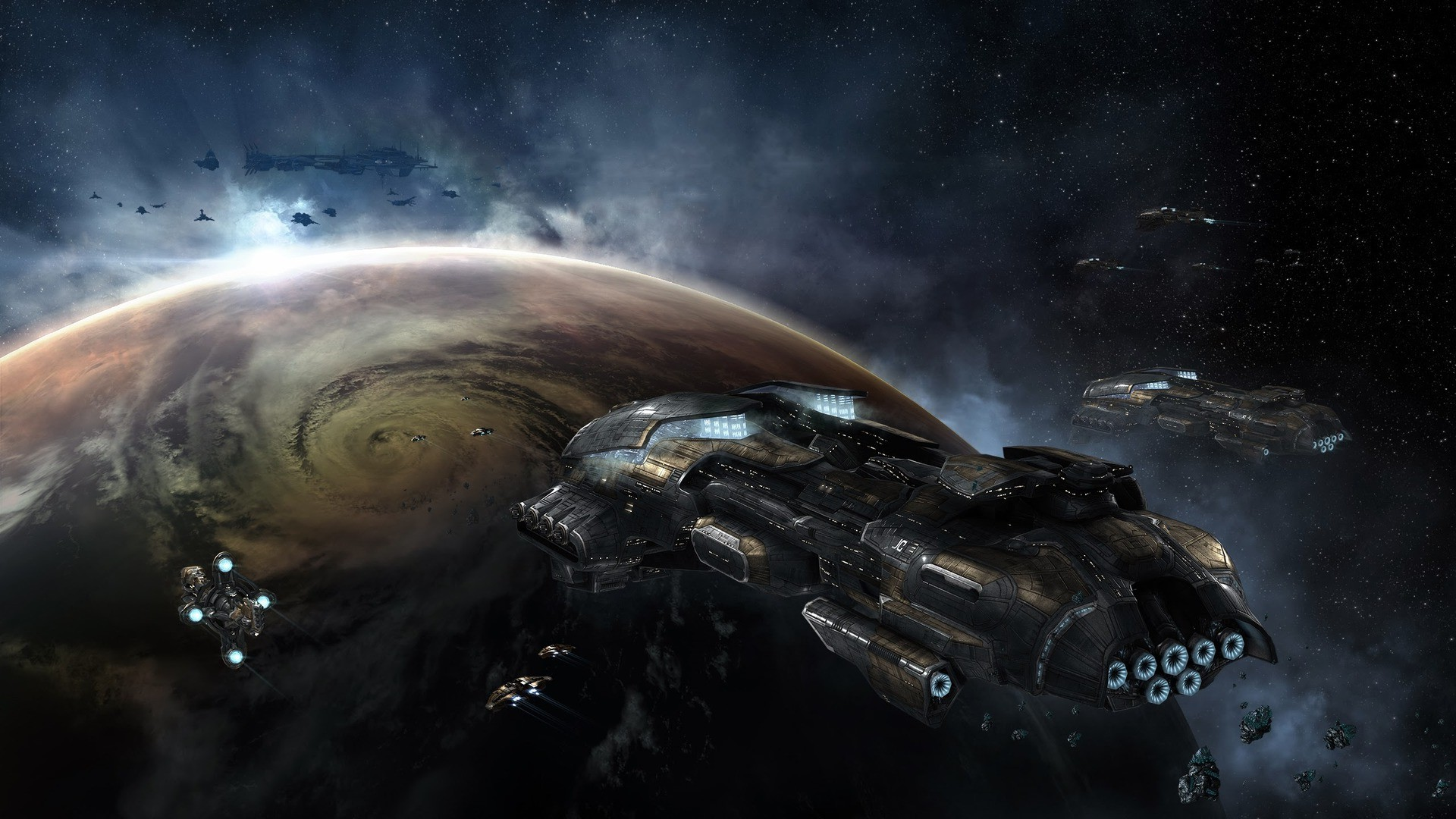 space, EVE Online, Gallente, Spaceship Wallpapers HD / Desktop and Mobile  Backgrounds