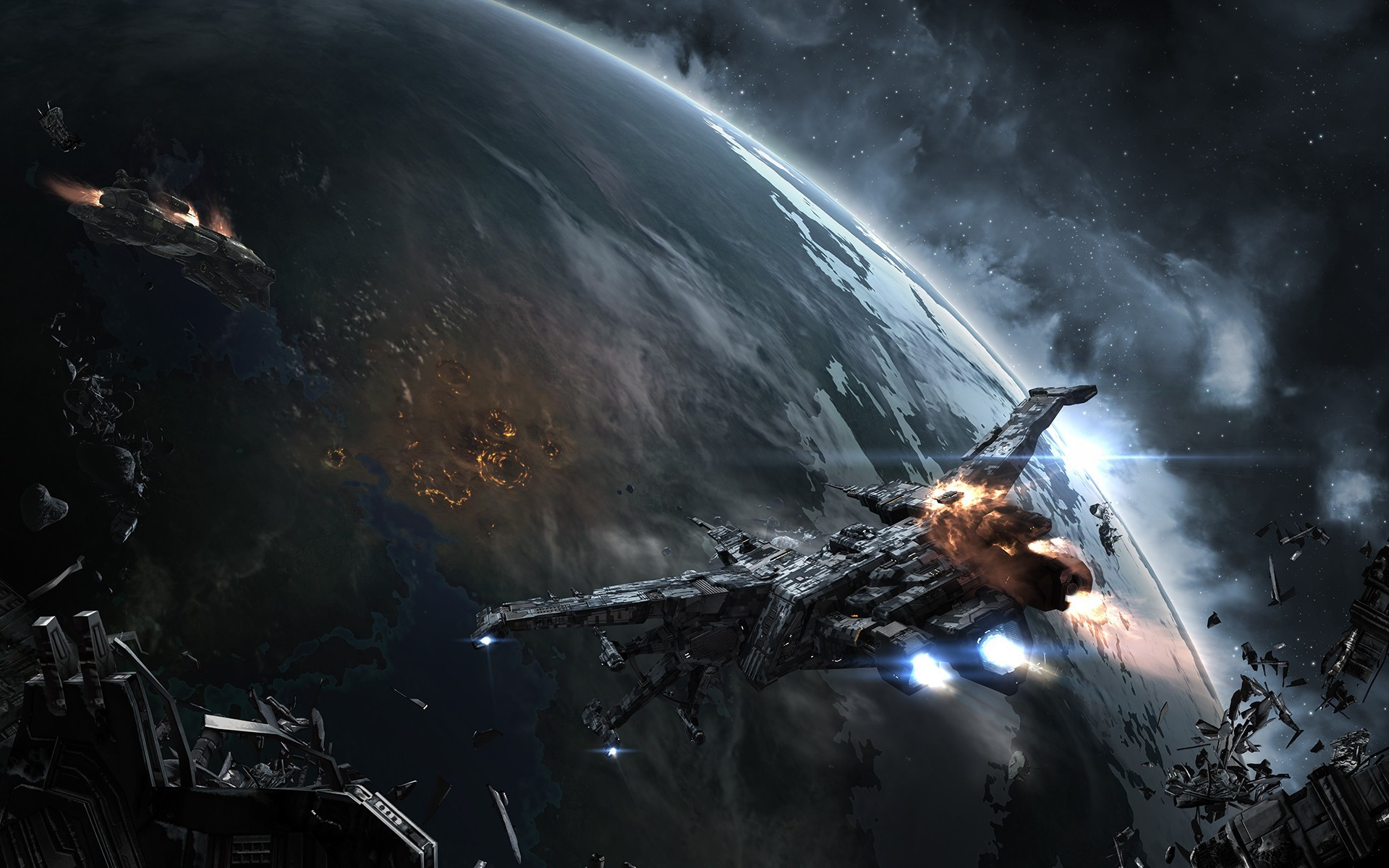 EVE Online, Space, Spaceship, Caldari, Space Battle Wallpapers HD / Desktop  and Mobile Backgrounds