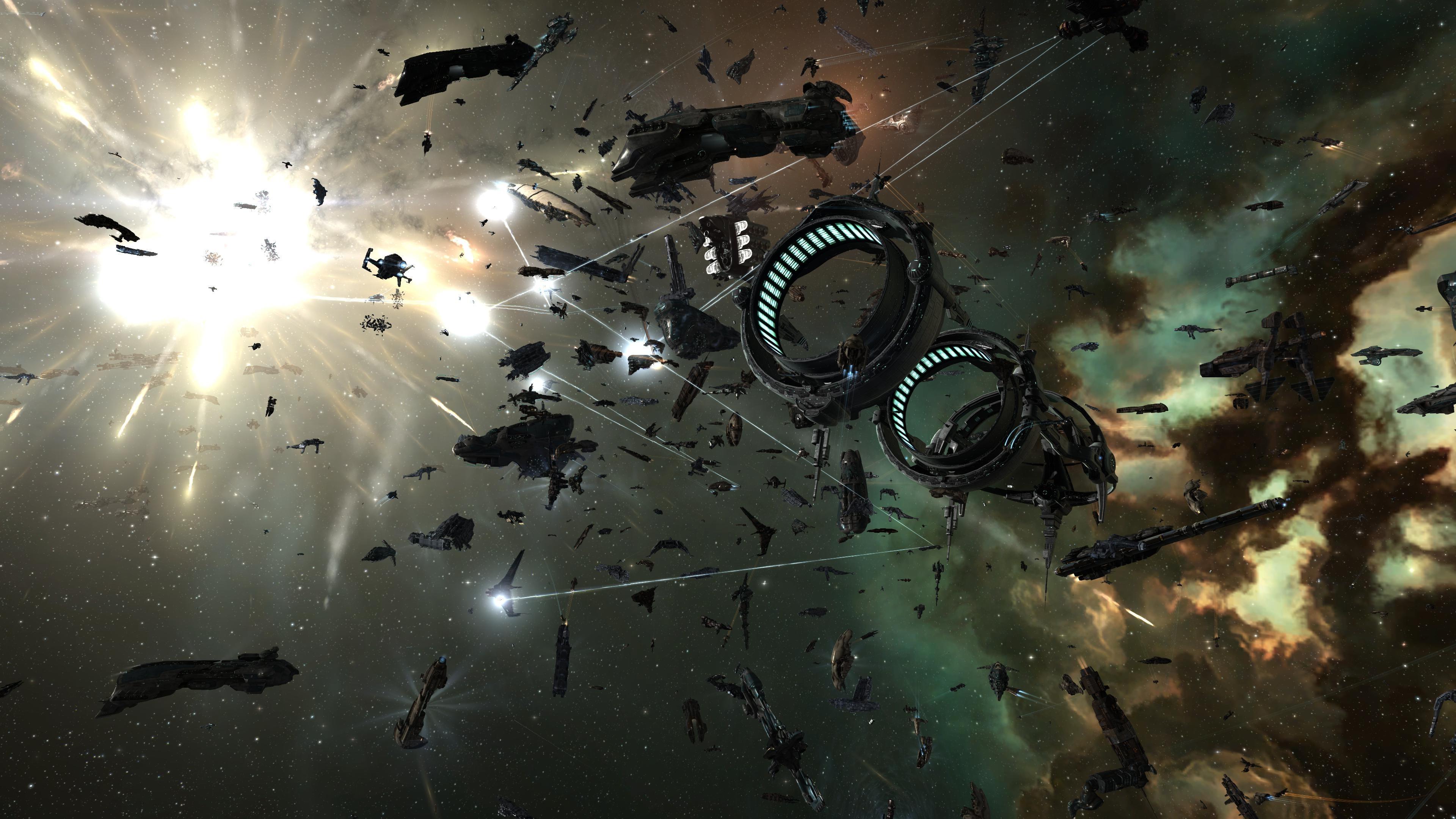 … Widescreen Resolutions Desktop Background Images. EVE Online, Burn  Jita, Space, Spaceship, Space Battle
