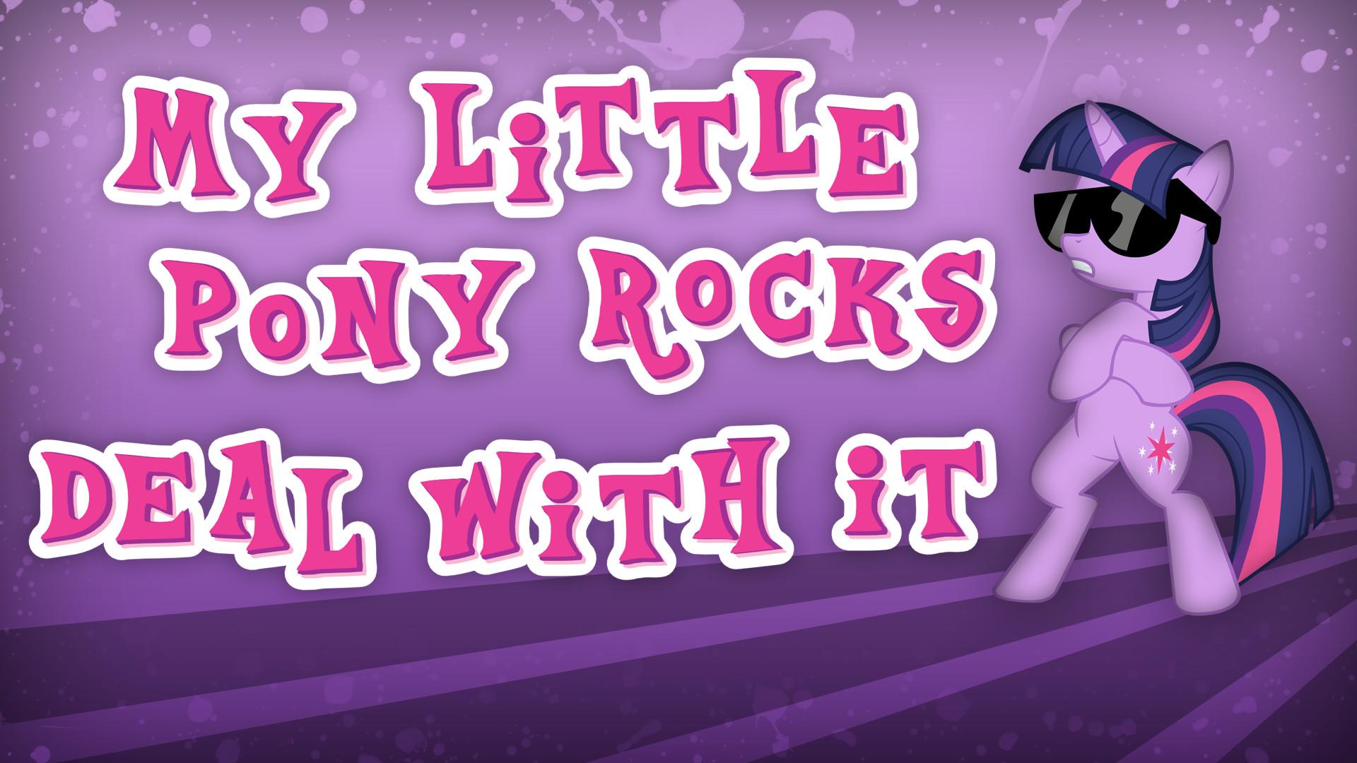 … My Little Pony Rocks Wallpaper by Dipi11