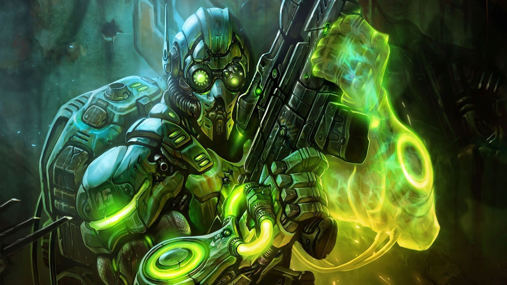 Starcraft 2 ghost cyborg Wallpapers